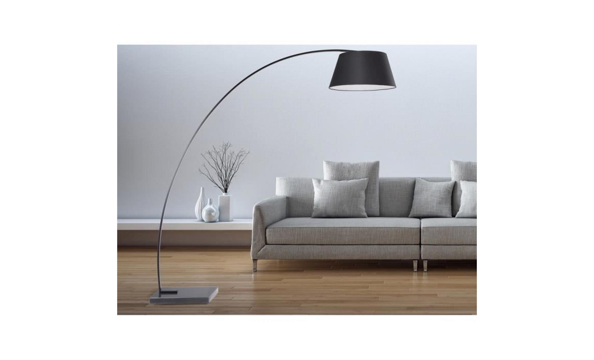 Lampadaire design - luminaire - lampe de salon - noir - Rio Grande