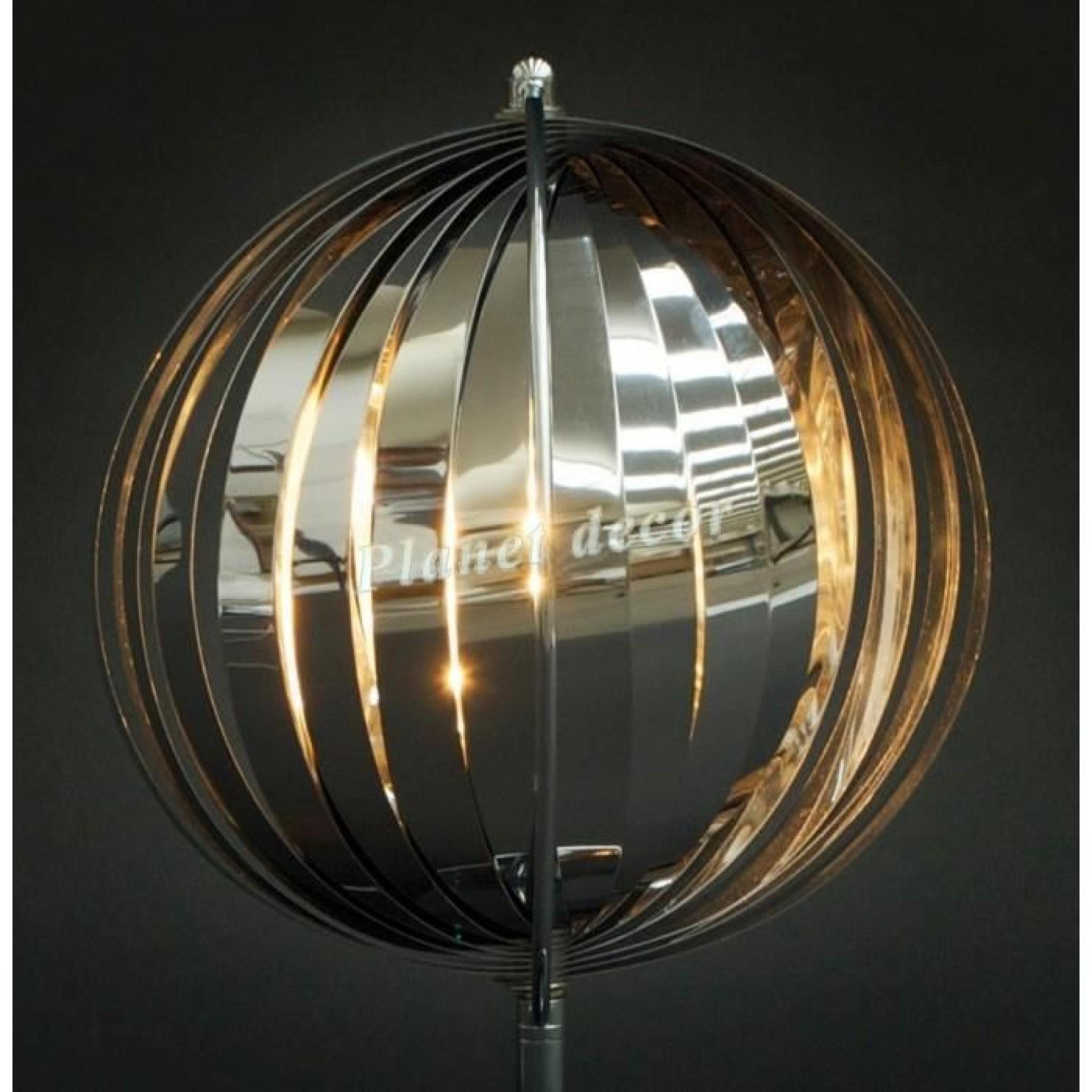 lampadaire design 39 sibel 39 chrome avec lamelles flexibles. Black Bedroom Furniture Sets. Home Design Ideas