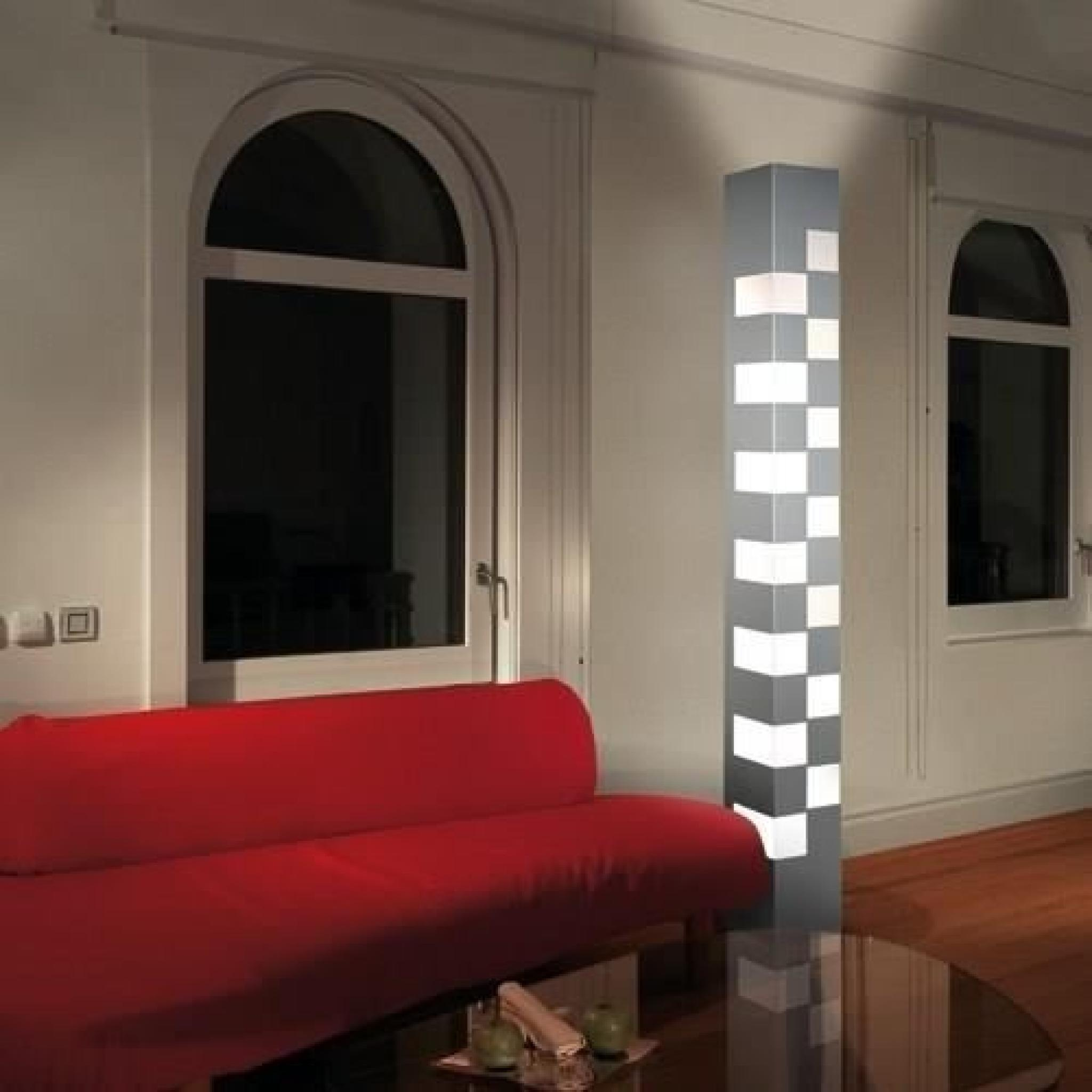 lampadaire design totem led et halogene achat vente lampadaire pas cher couleur et. Black Bedroom Furniture Sets. Home Design Ideas