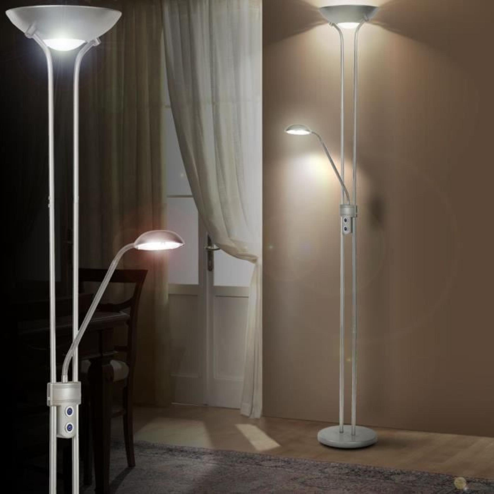 lampadaire led 25 watts luminaire spot interrupteur lampe de lecture salle de s jour achat. Black Bedroom Furniture Sets. Home Design Ideas