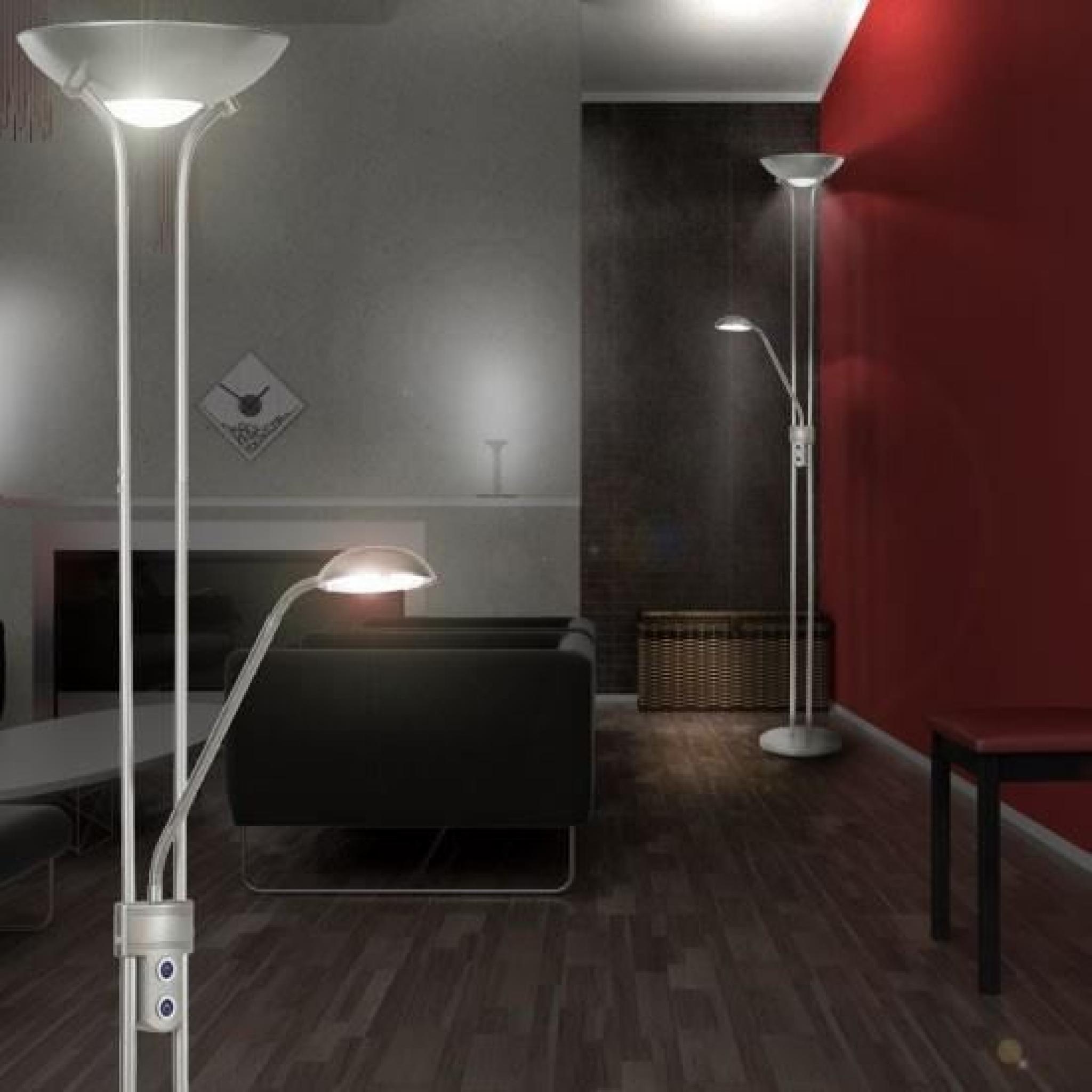 lampadaire led 25 watts luminaire spot interrupteur lampe. Black Bedroom Furniture Sets. Home Design Ideas
