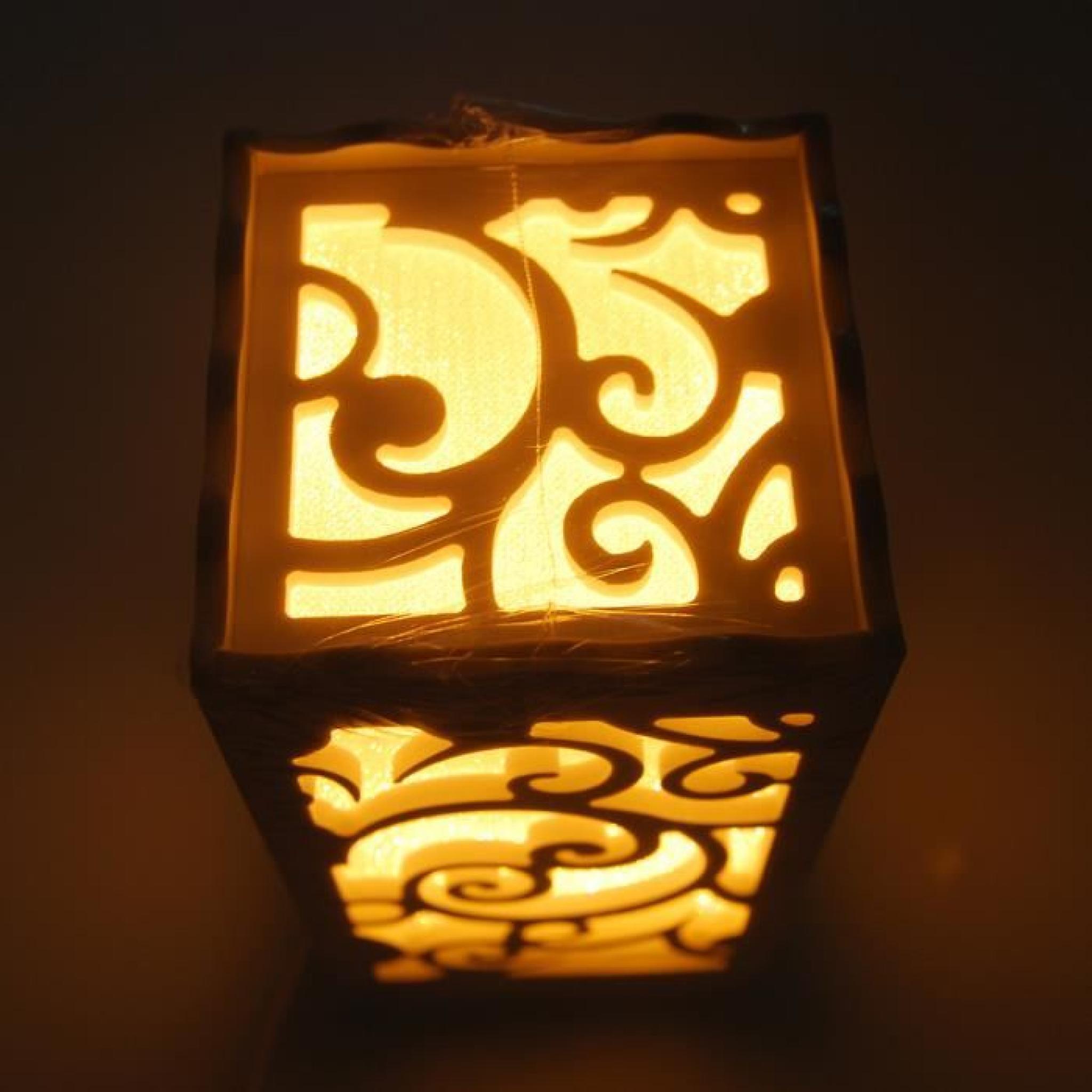 Table Bois Lampadaire Nuage Ancien Sculpté Led De En Lampe Chevet 0OknwP8X