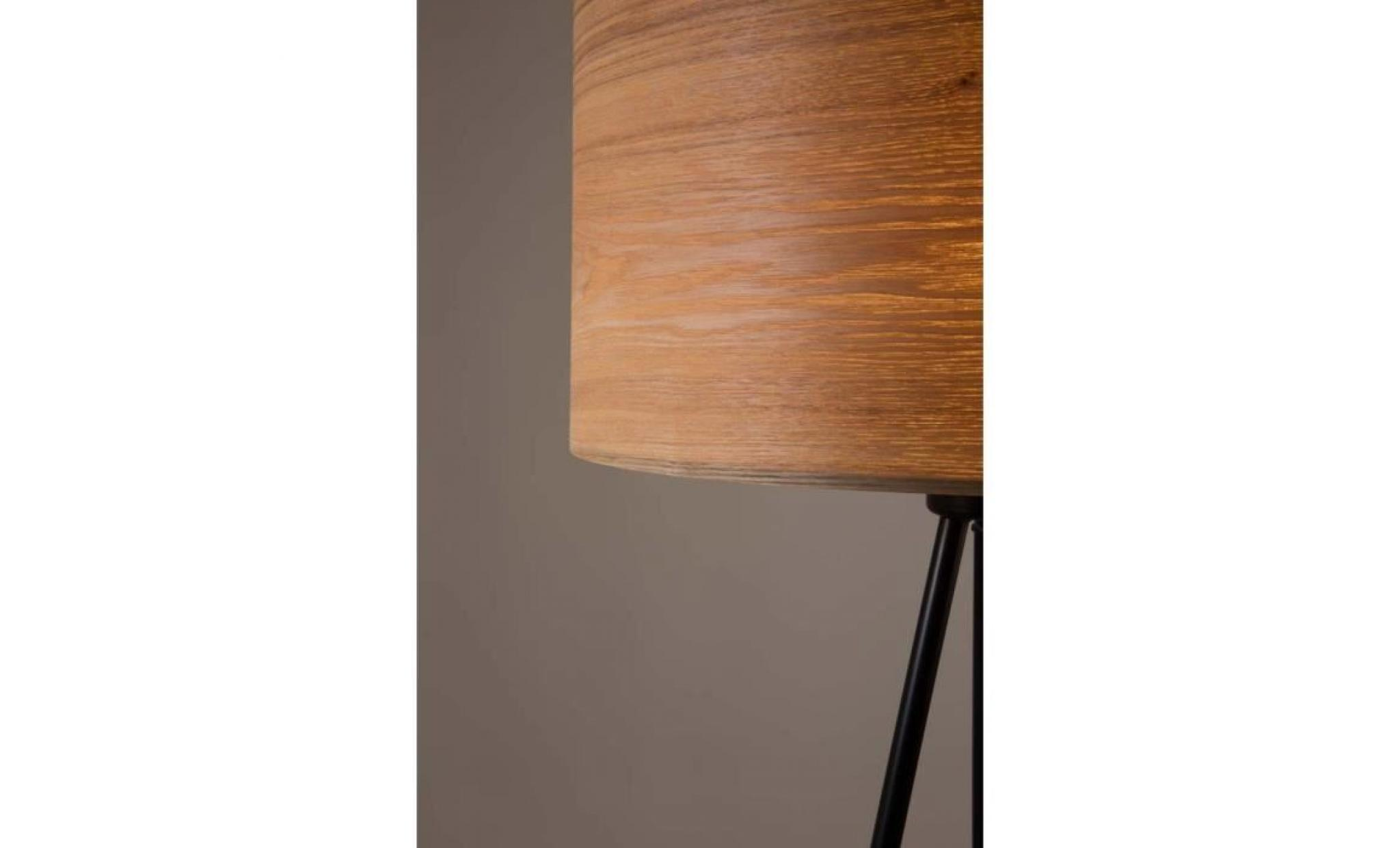 lampadaire tr pied bois woodland couleur marron achat. Black Bedroom Furniture Sets. Home Design Ideas
