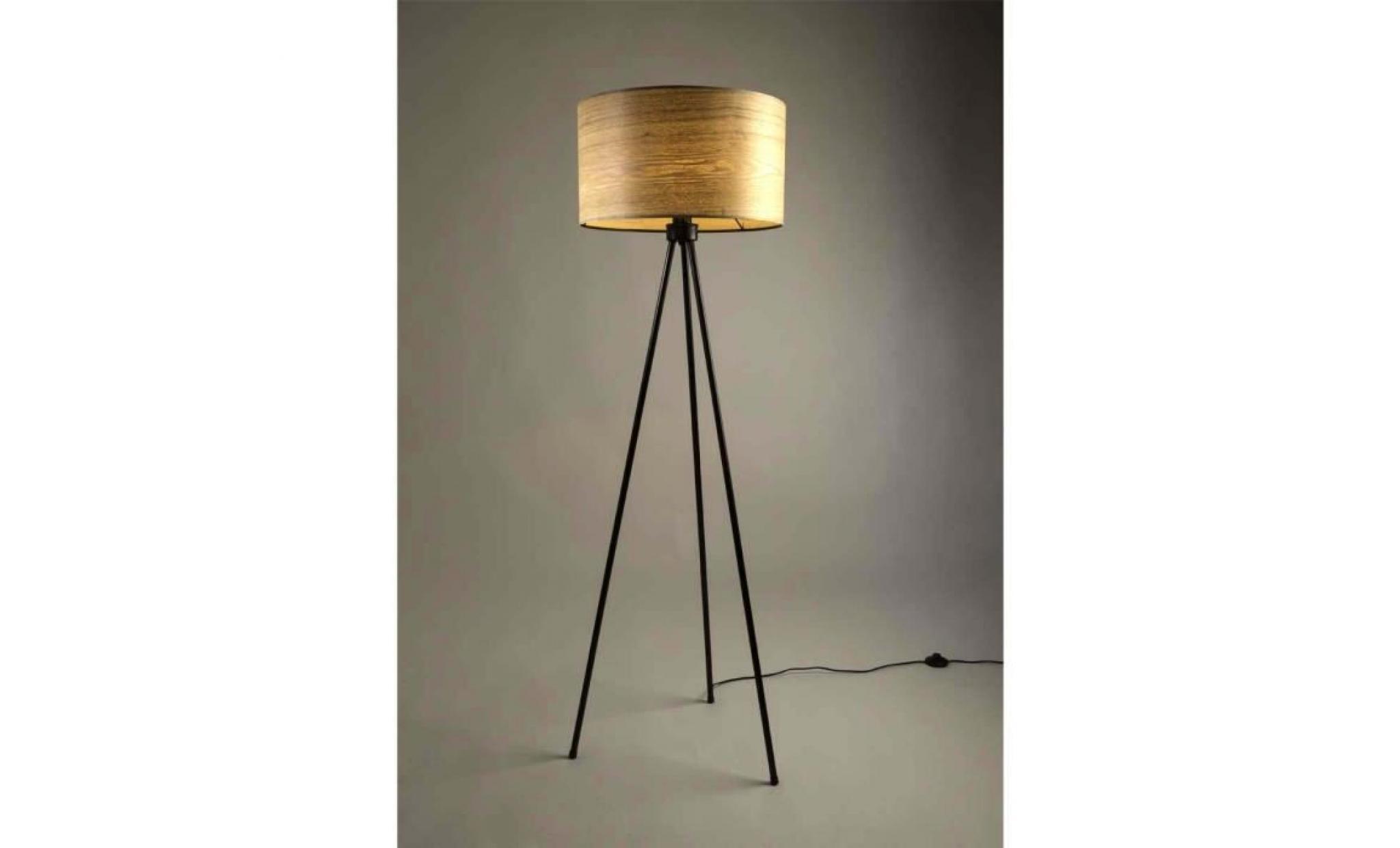 lampadaire tr pied bois woodland couleur marron achat. Black Bedroom Furniture Sets. Home Design Ideas