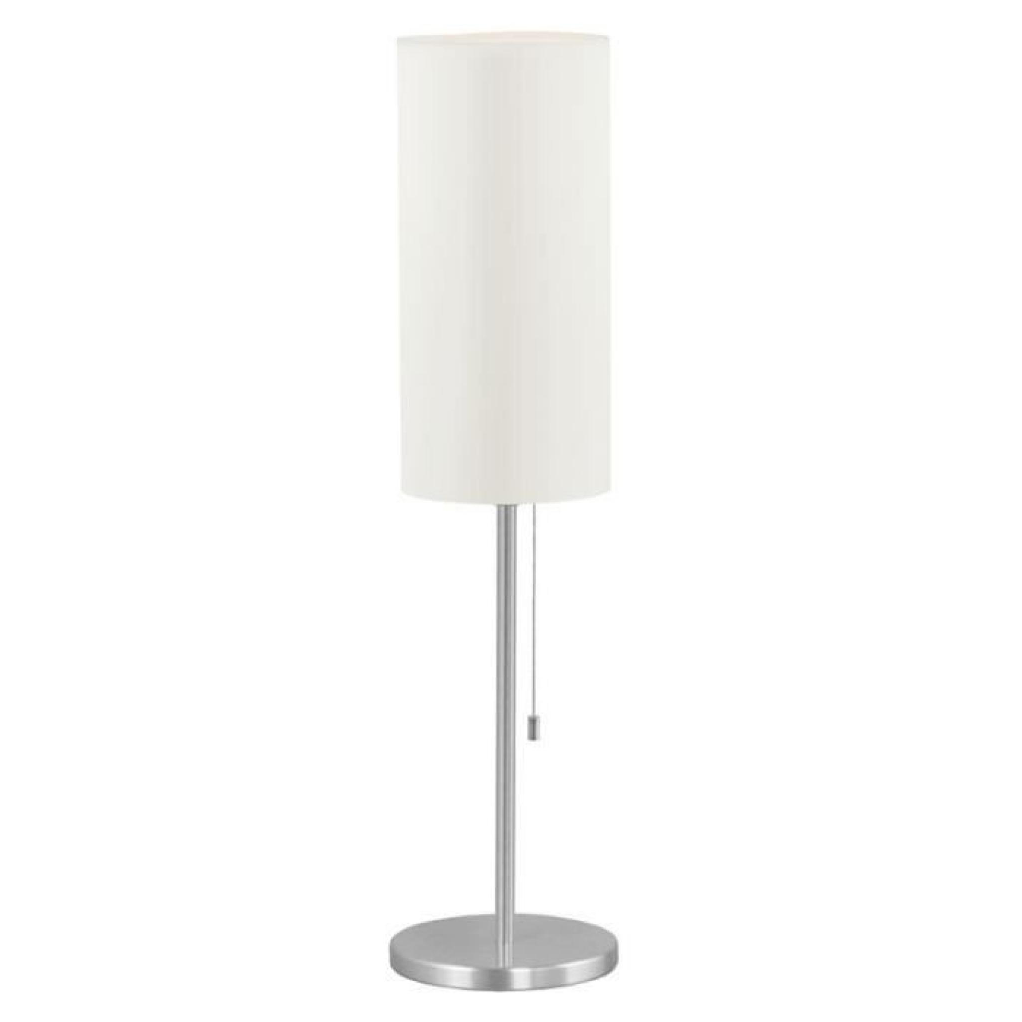 lampe a poser tube aluminium 1x60w eglo lighting achat vente lampe a poser pas cher. Black Bedroom Furniture Sets. Home Design Ideas