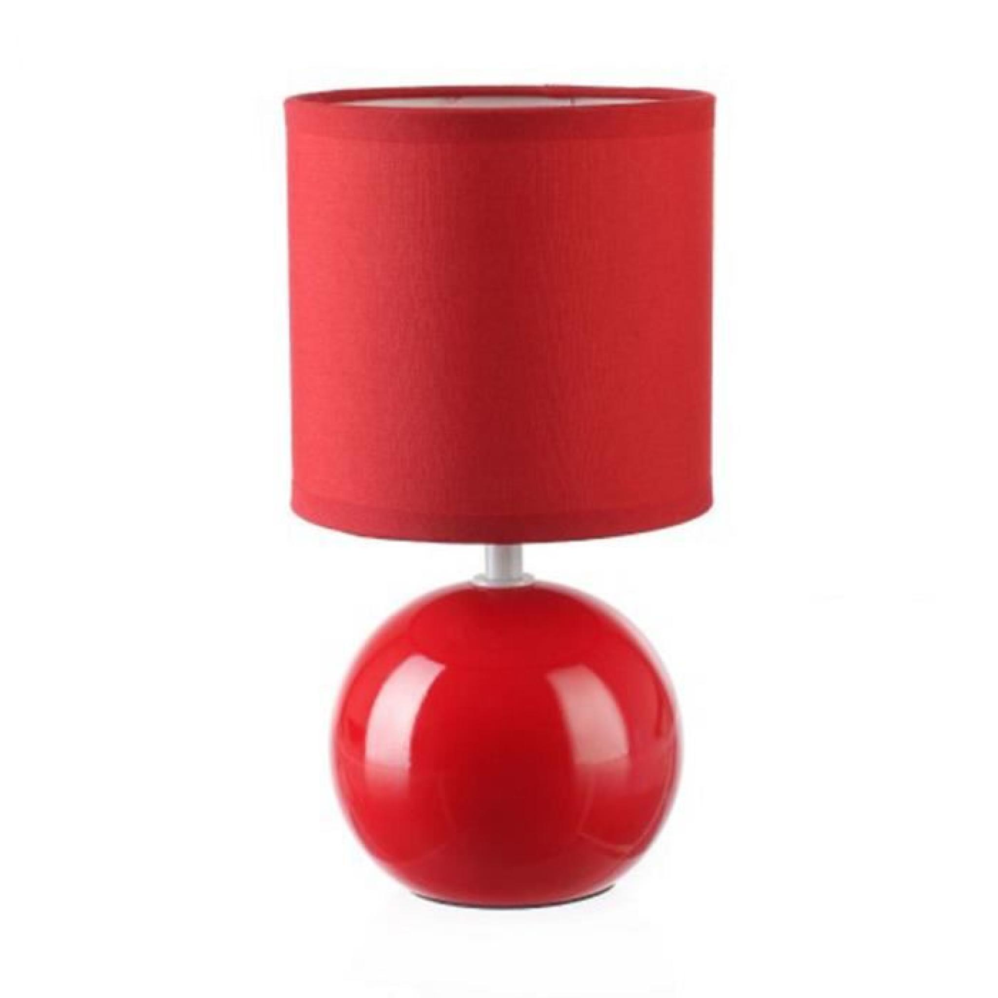 RougeHauteur 25 En Cm Céramique Lampe Boule DIe9YEHW2