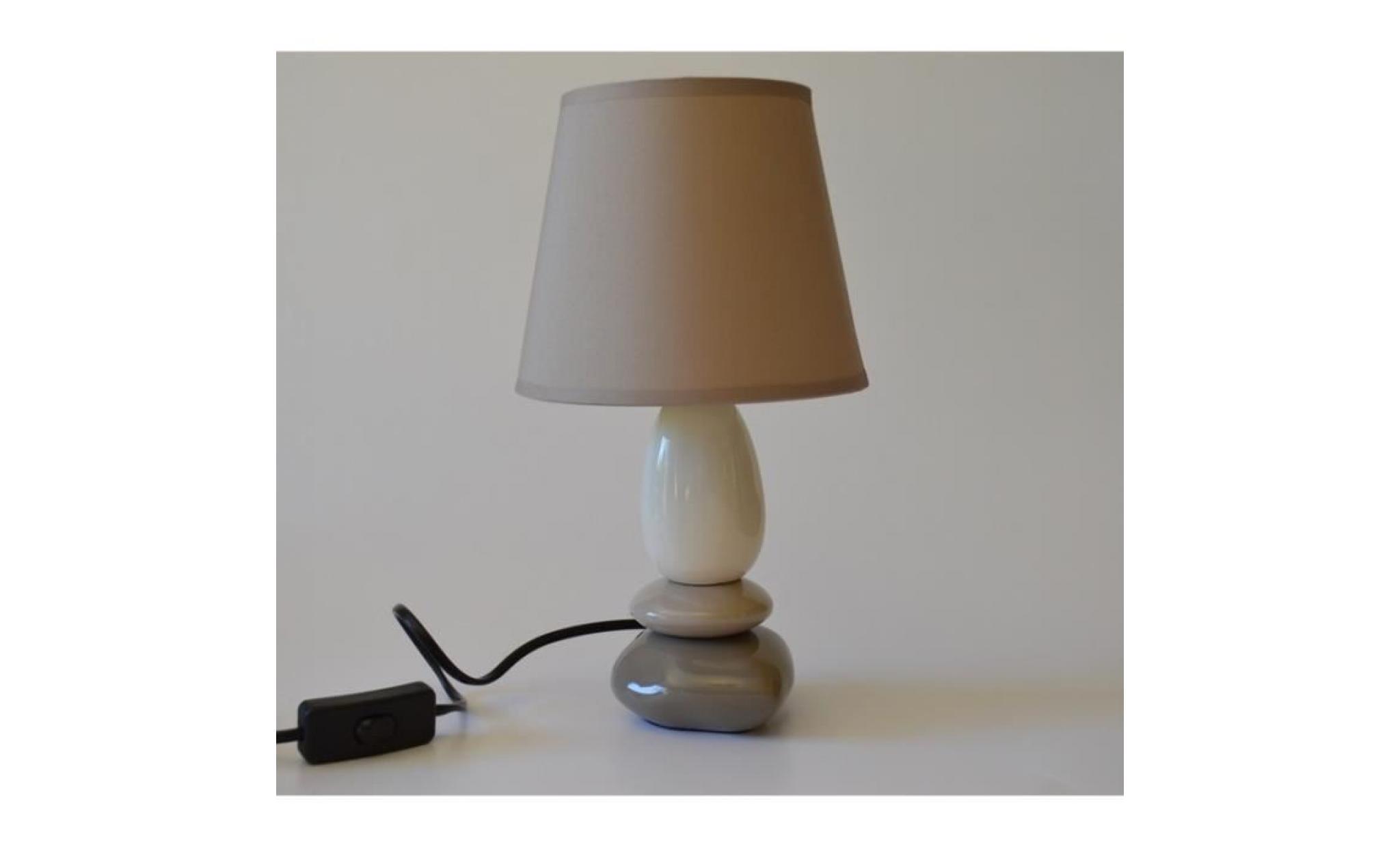 Lampe Marron De Chevet 3 BeigeTaupe Et Galets ZukPiOX