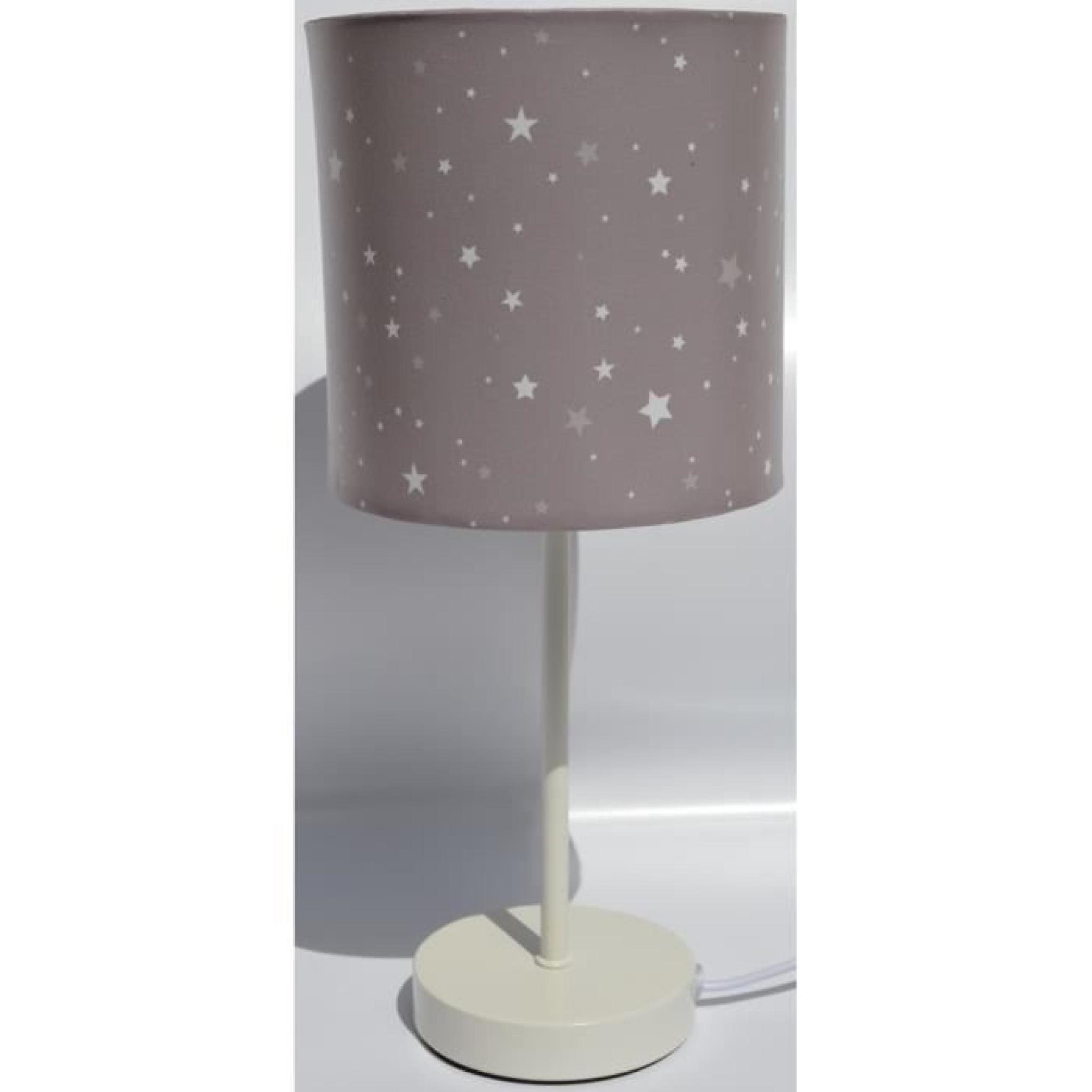Lampe De Chevet Abat Jour Couleur Taupe Etoile