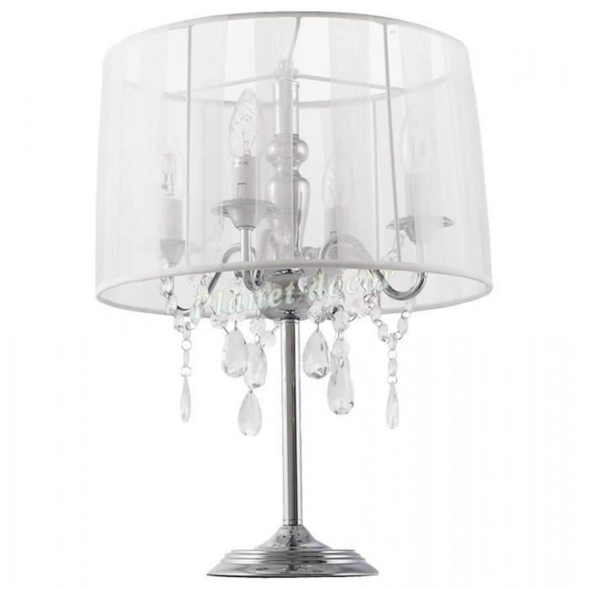 De blanc Lampe Chevet Blanc Chandelier Baroque zVSpMU