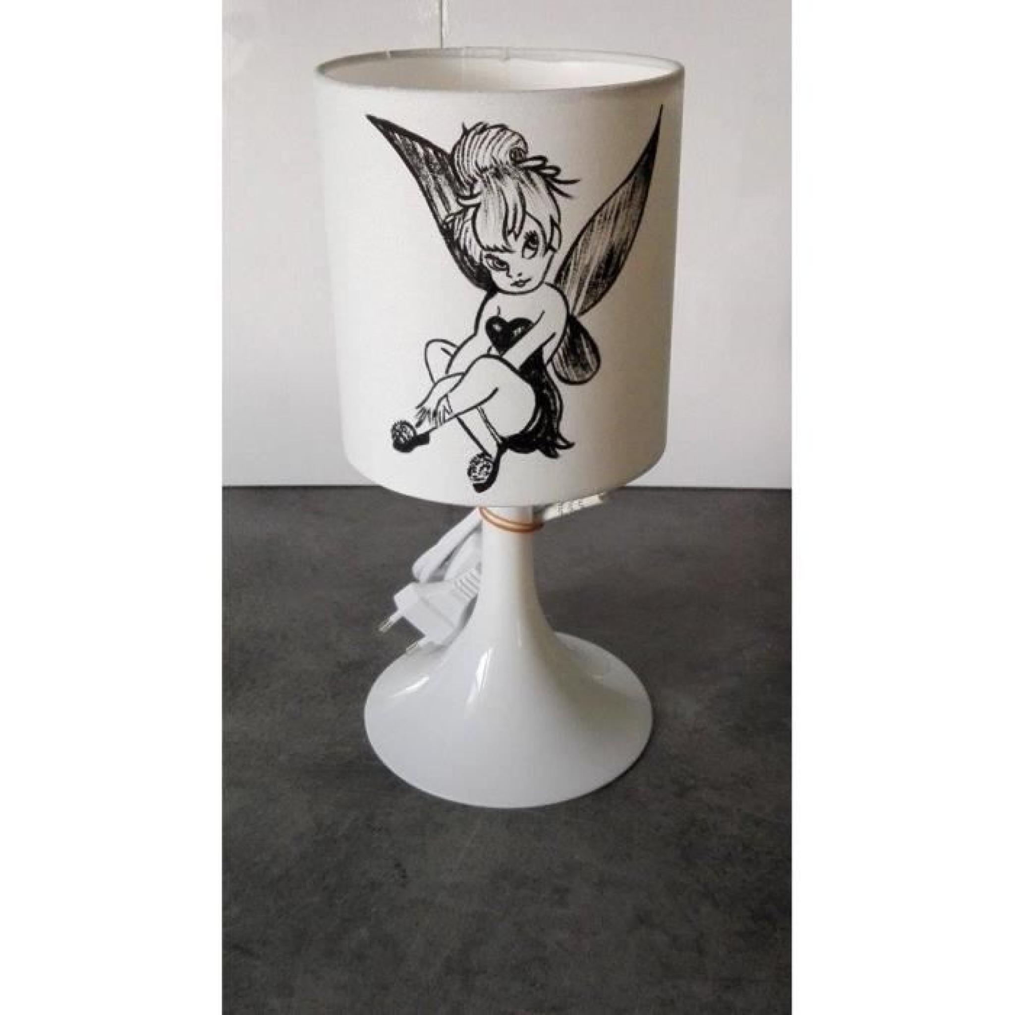 Lampe Clochette Peint Chevet Main Fee De wPiOkXZTu