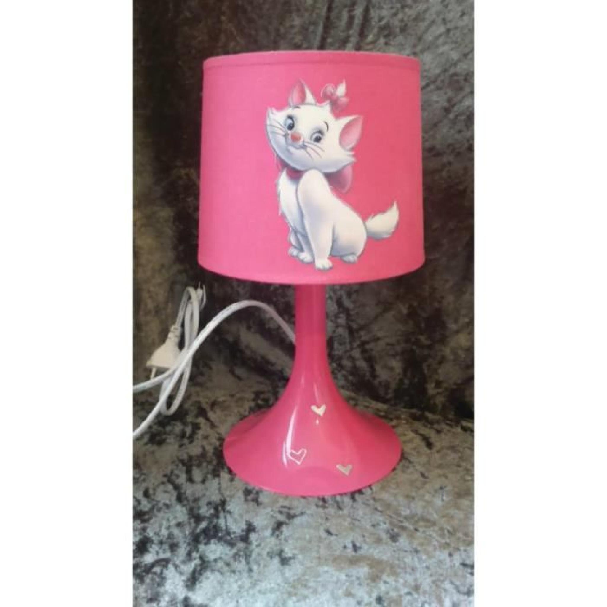 lampe de chevet rose marie aristochats