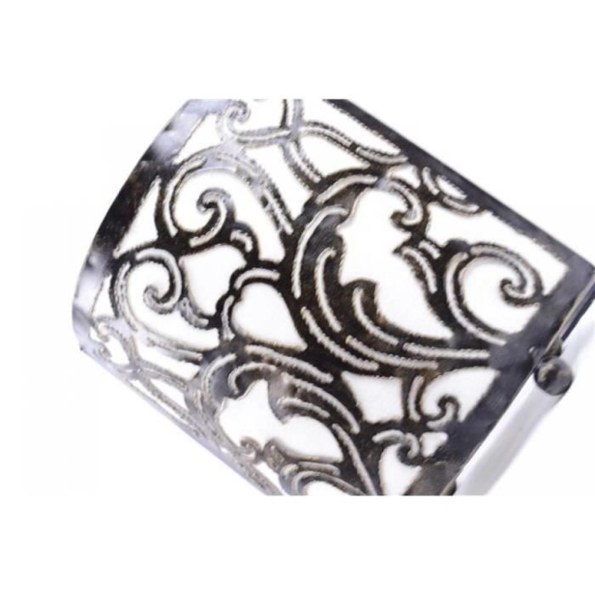 lampe de chevet style marocain oriental fer forg tissu blanc achat vente lampe a poser pas. Black Bedroom Furniture Sets. Home Design Ideas