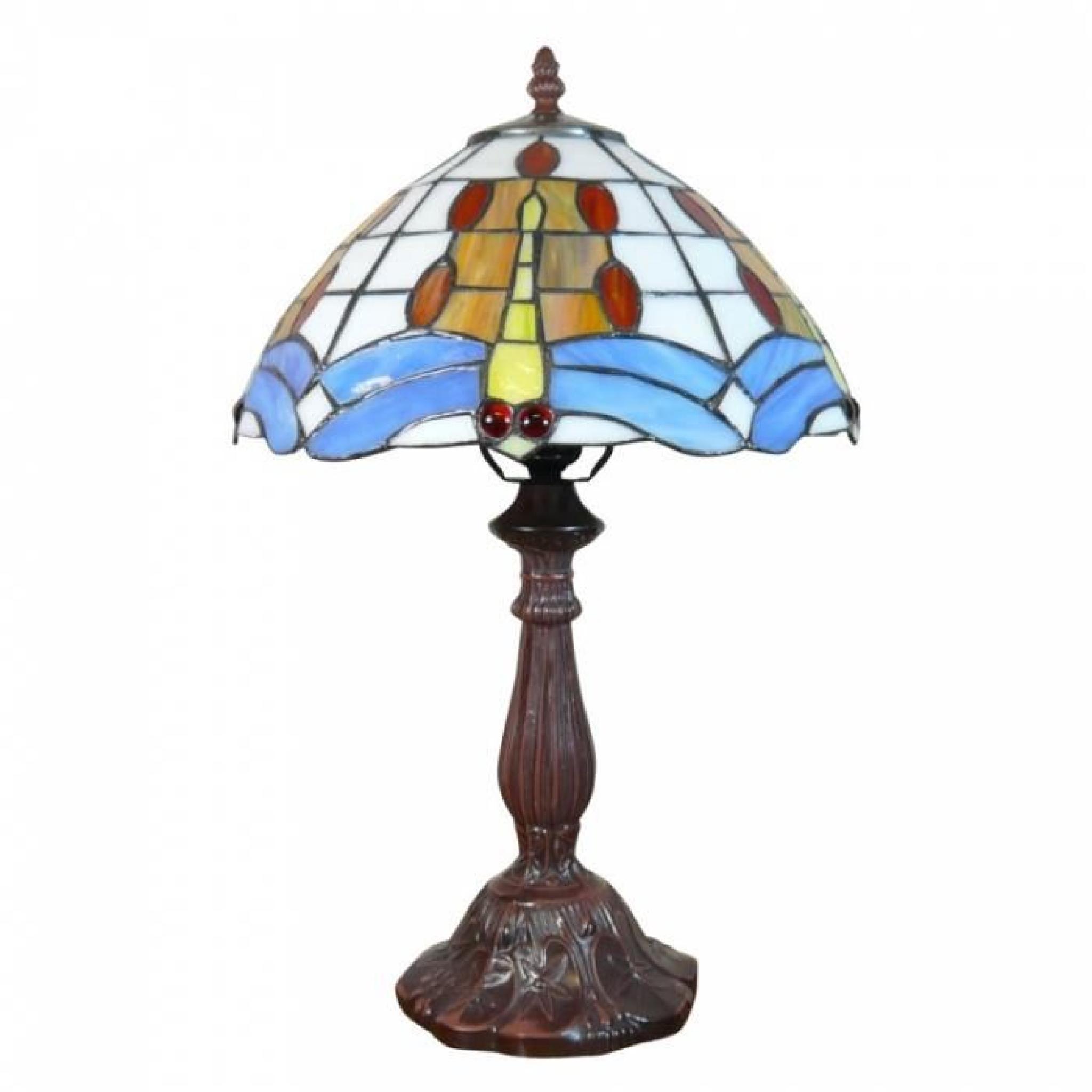 lampe de style tiffany achat vente lampe a poser pas cher couleur et. Black Bedroom Furniture Sets. Home Design Ideas