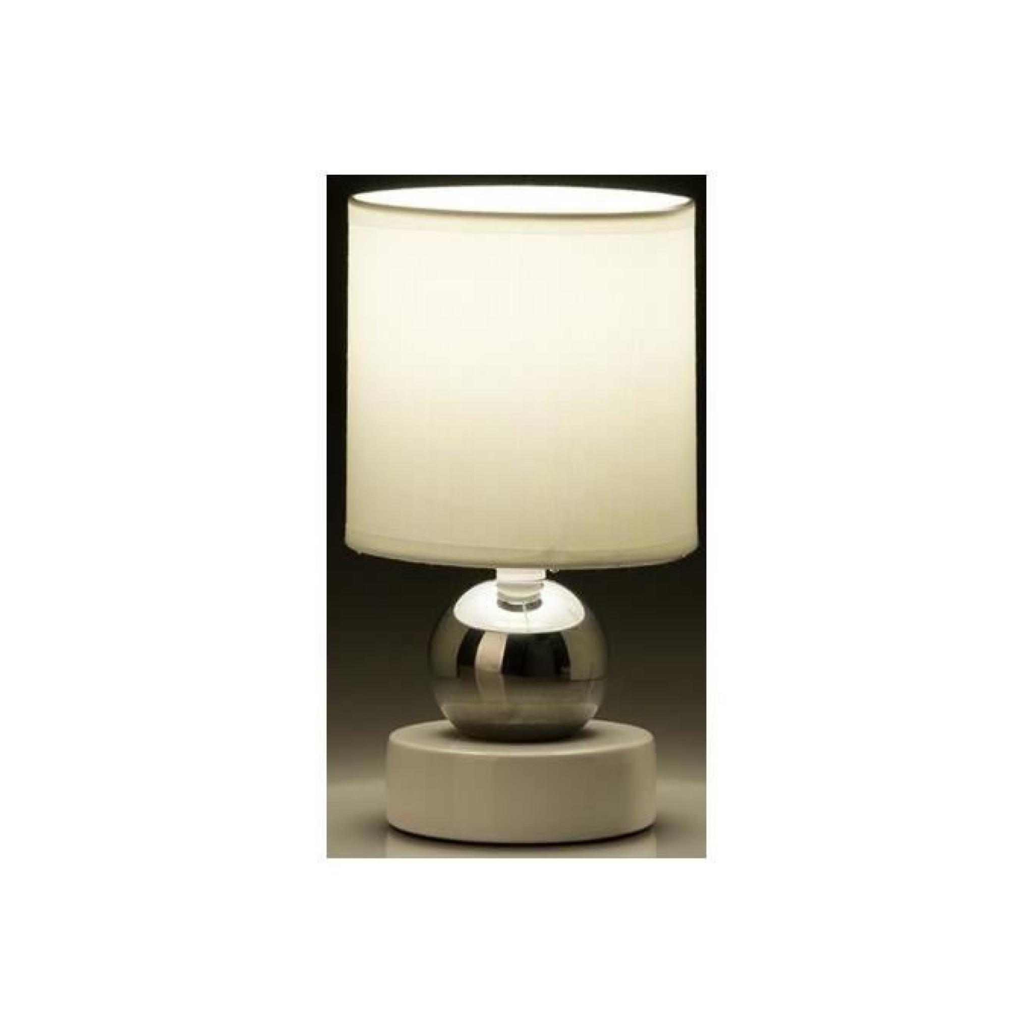 Cm Argent Lampe Blanc X Table Céramique 13 De 23 50 nmNyv0wO8