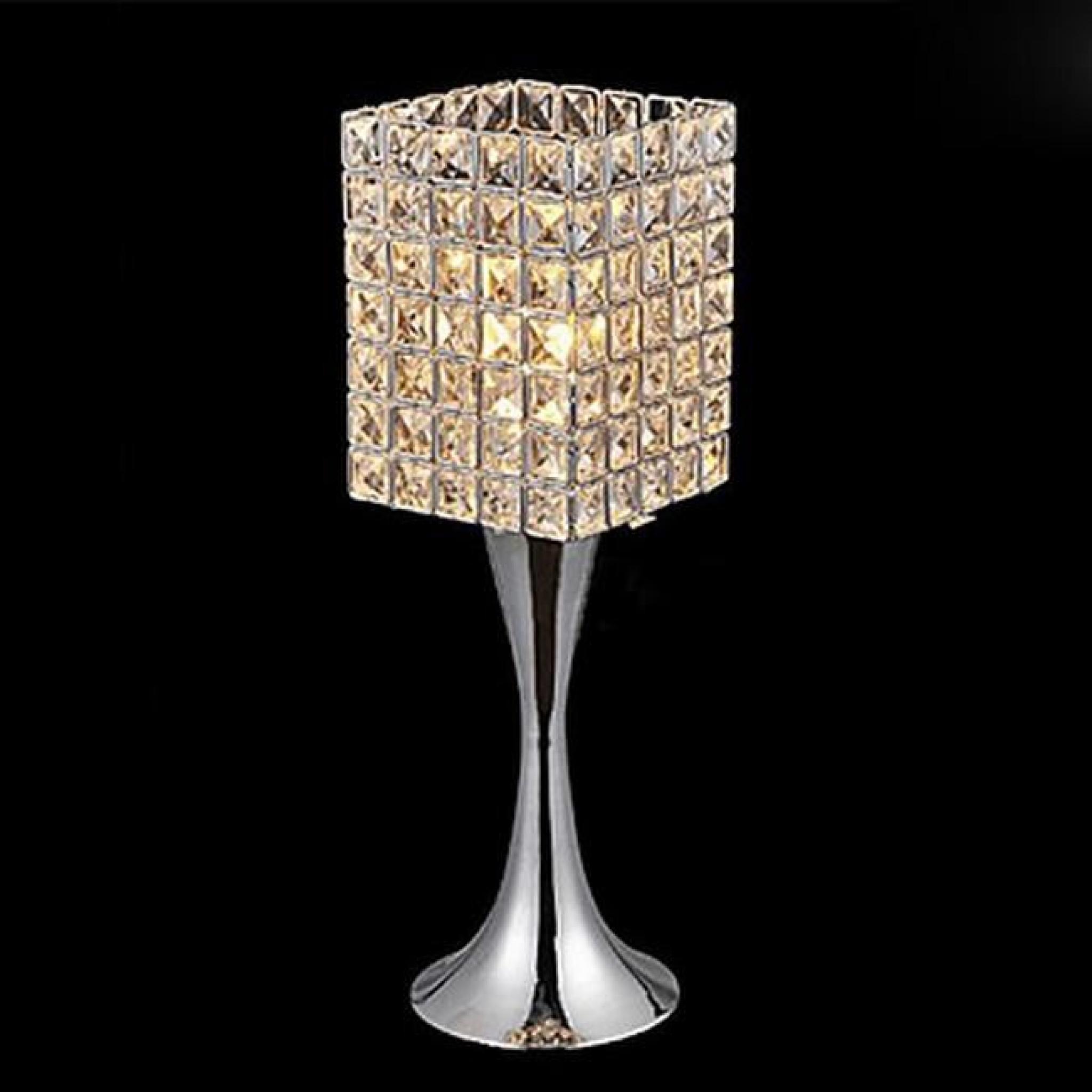 lampe de table en cristal tu achat vente lampe a poser. Black Bedroom Furniture Sets. Home Design Ideas