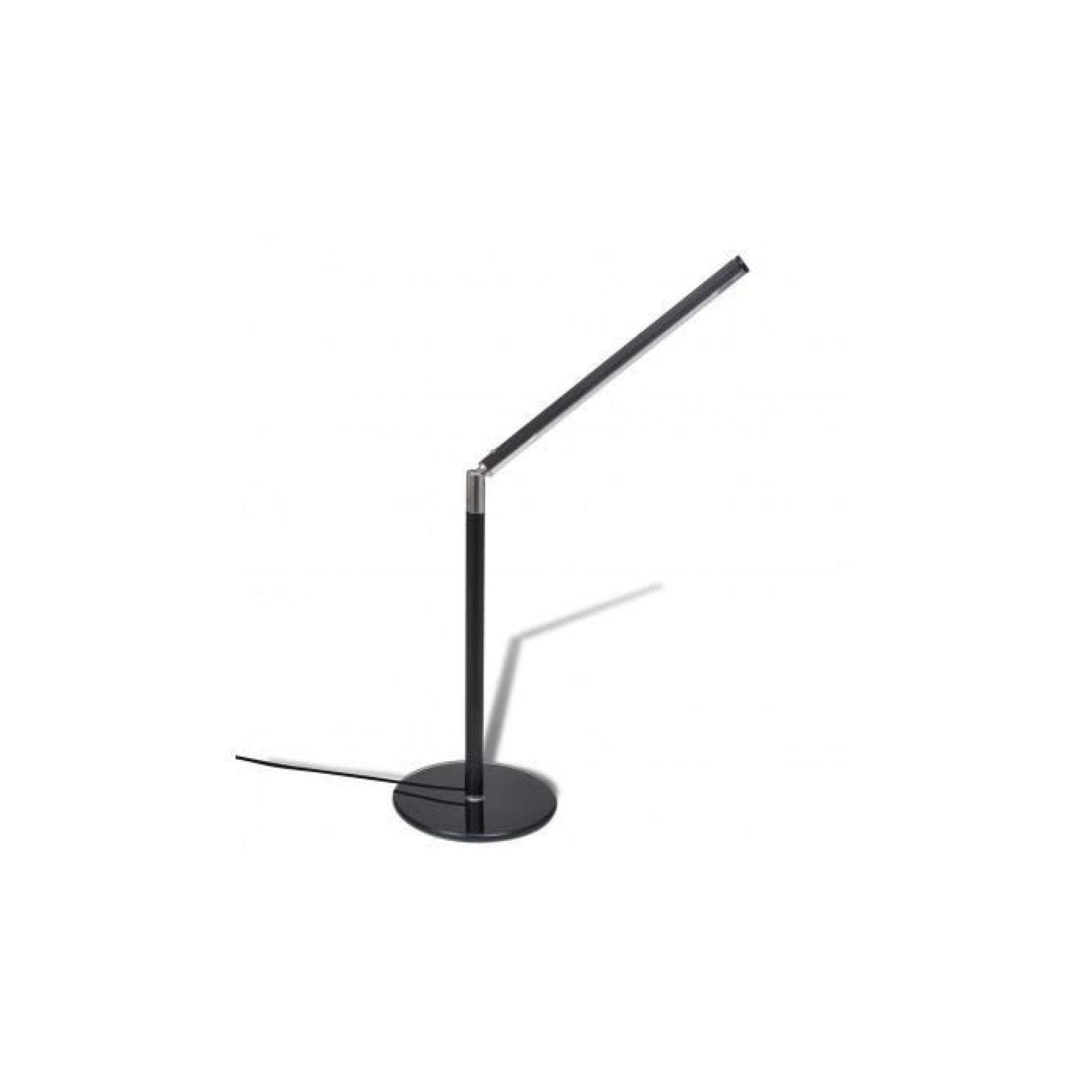 lampe de table noire led luminosit ajustable blanc froid 4w achat vente lampe a poser pas. Black Bedroom Furniture Sets. Home Design Ideas
