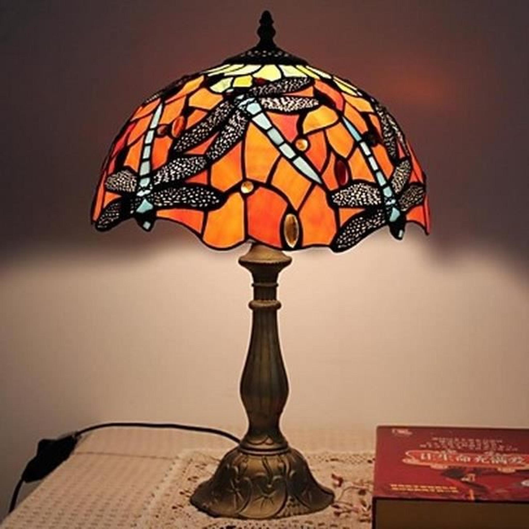 lampe de table tiffany tu achat vente lampe a poser pas cher couleur et. Black Bedroom Furniture Sets. Home Design Ideas