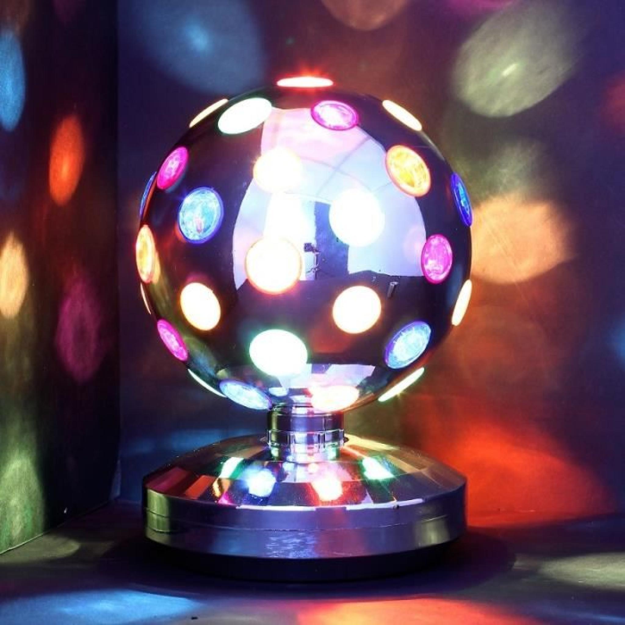 Lampe disco 20 cm Boule tournante pour soirée…