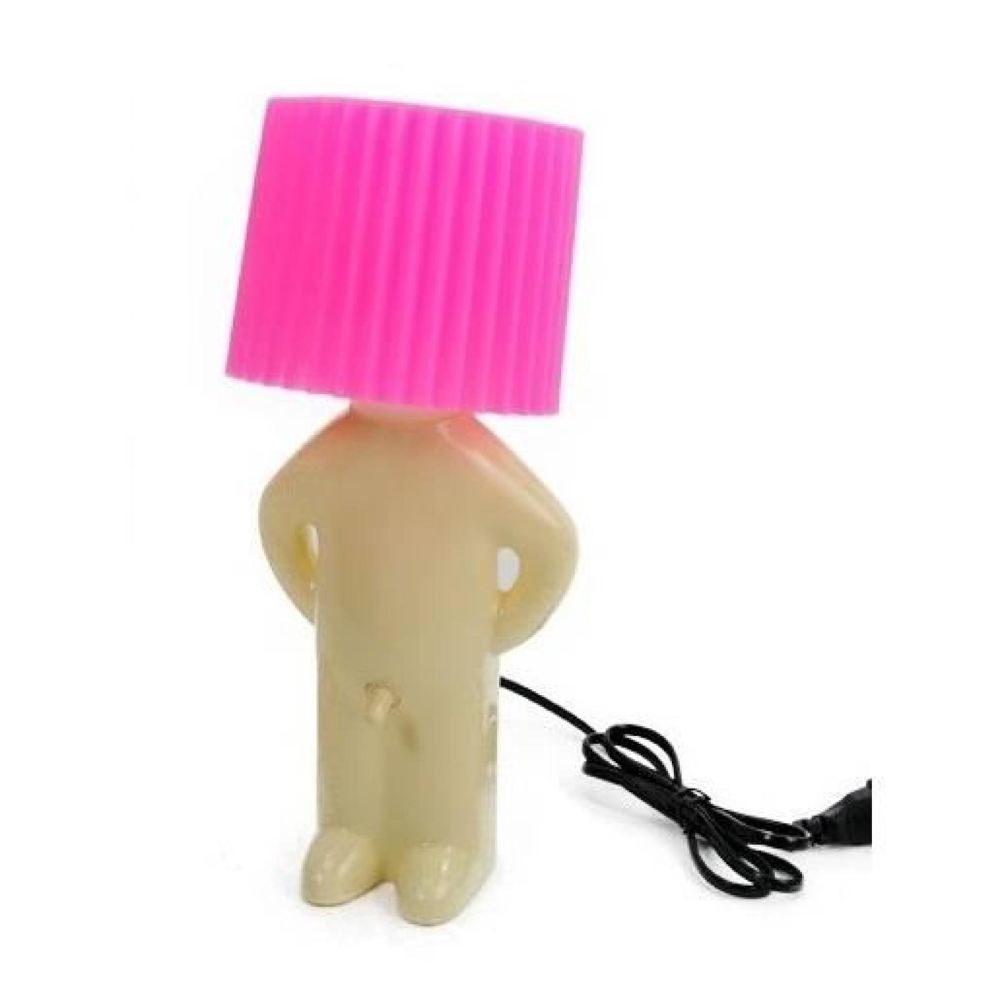 lampe originale et design ou luminaire d co rose achat vente lampe a poser pas cher couleur. Black Bedroom Furniture Sets. Home Design Ideas