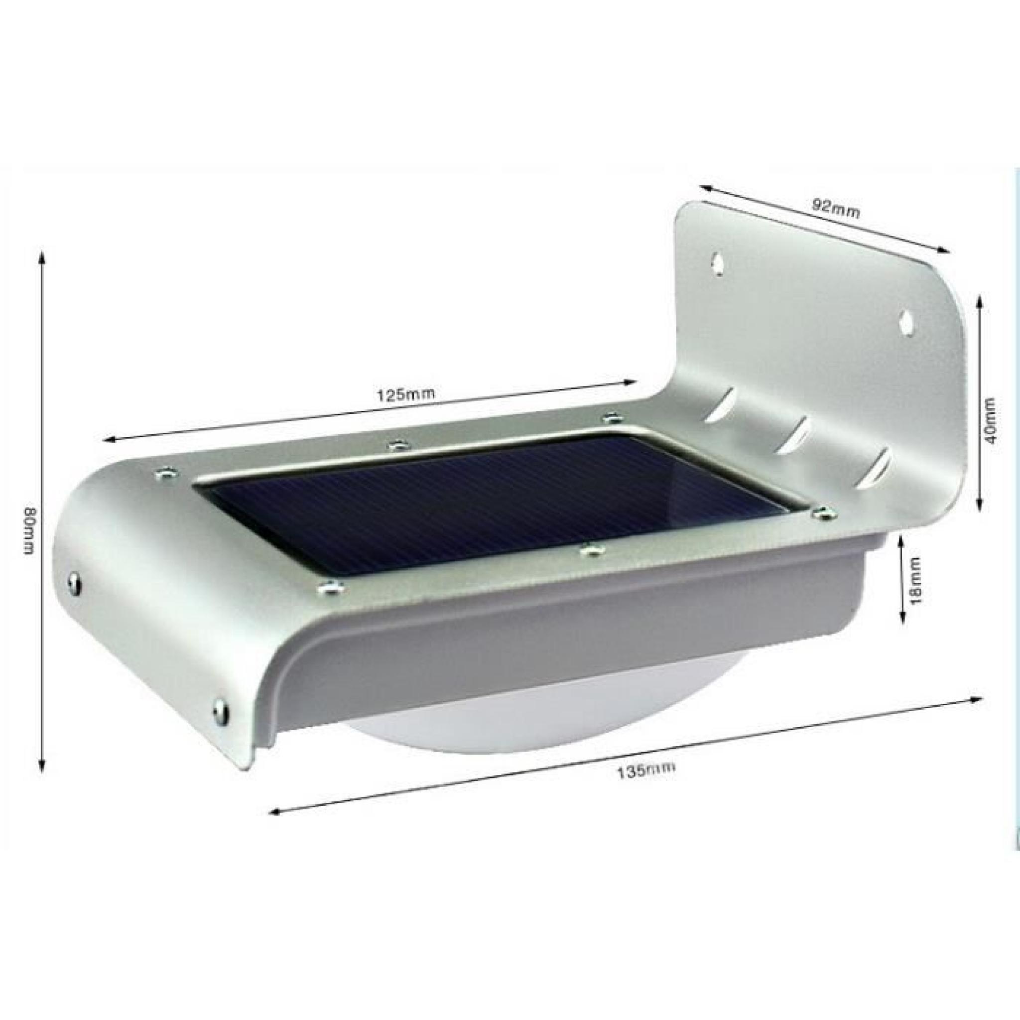 lampe solaire murale d tection de mouvement led achat vente applique murale pas cher. Black Bedroom Furniture Sets. Home Design Ideas