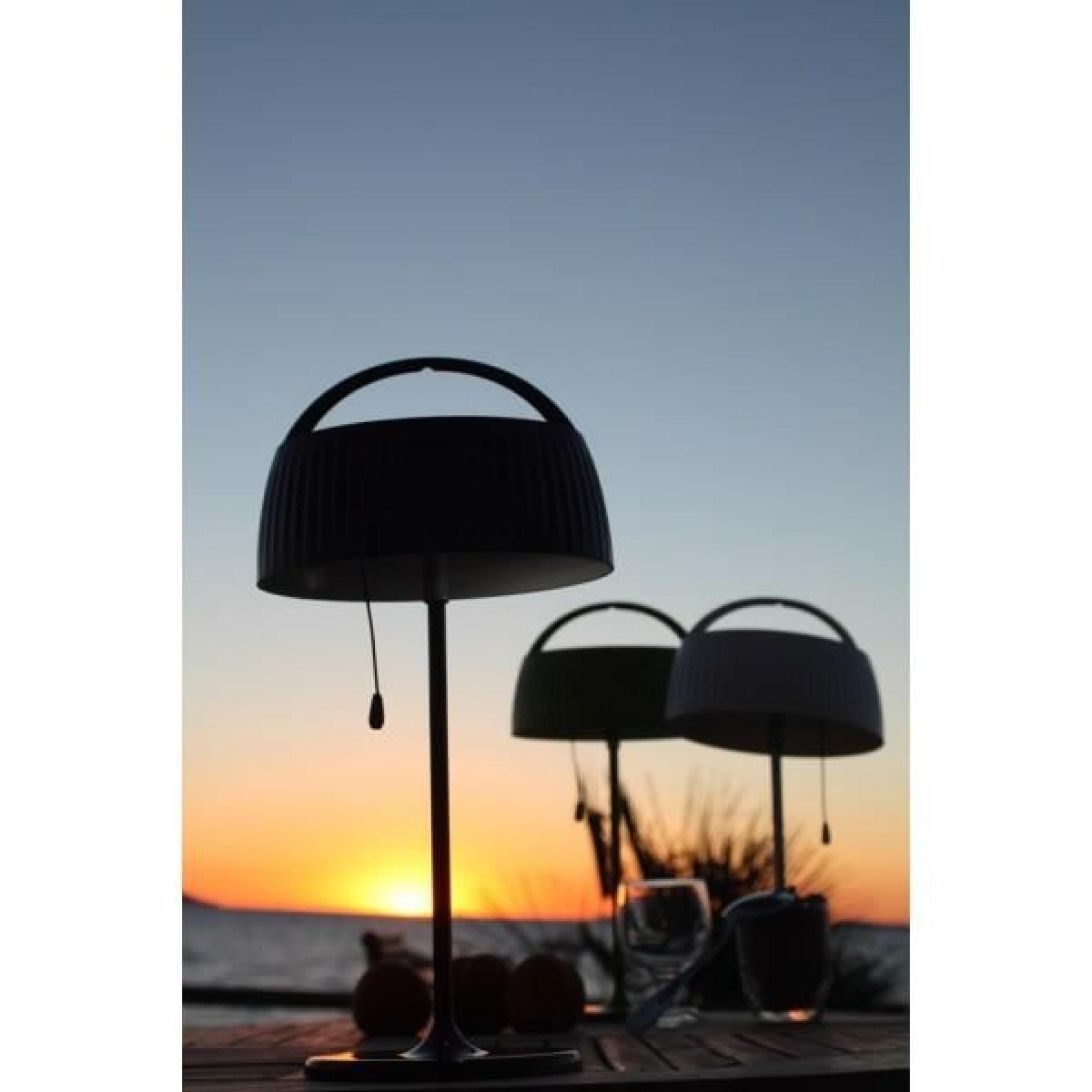 lampe solaire r tro pop blanche de table achat vente lampe a poser pas cher couleur et. Black Bedroom Furniture Sets. Home Design Ideas