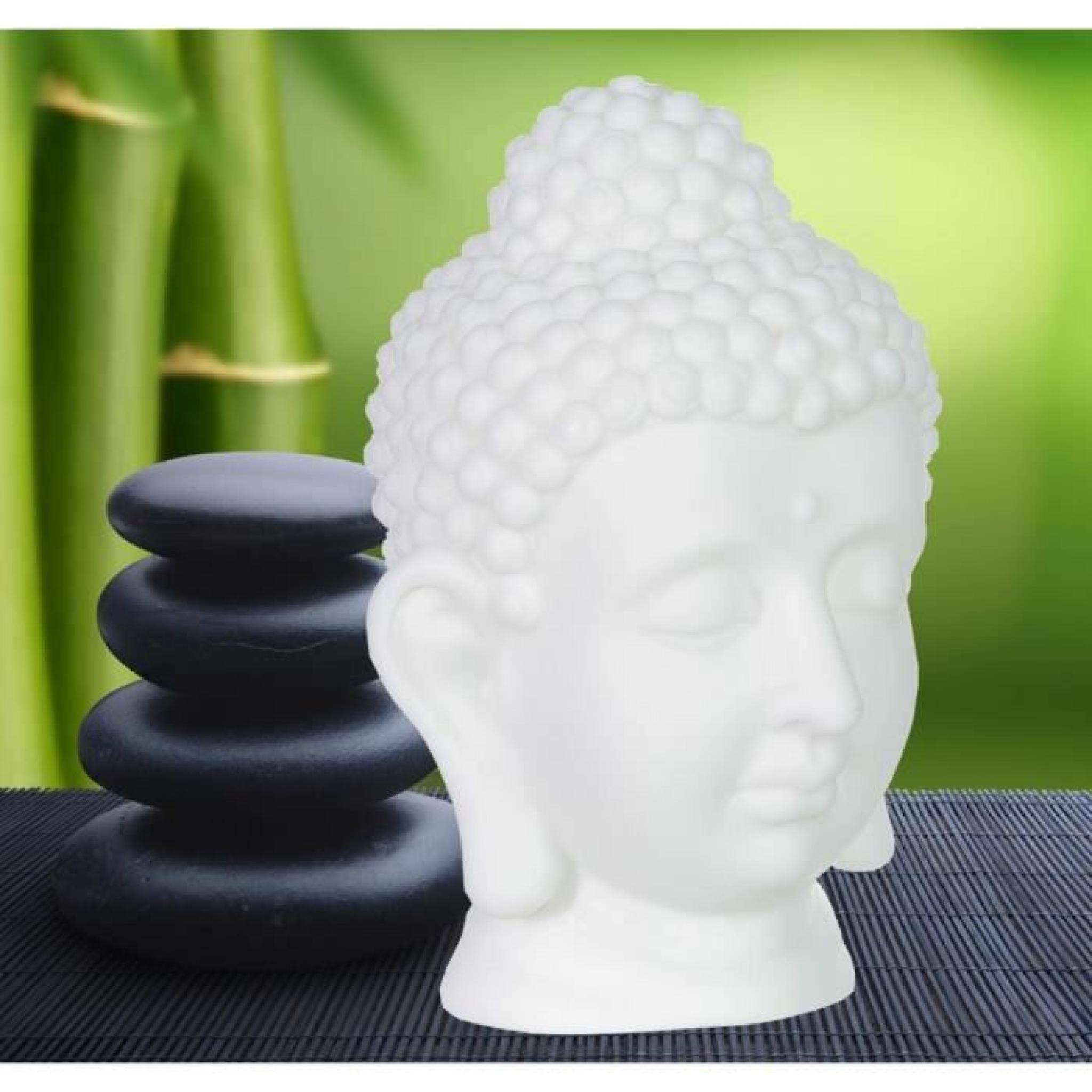 Lampe tête de bouddha à led avec changement de couleurs automatique, idée cadeau déco