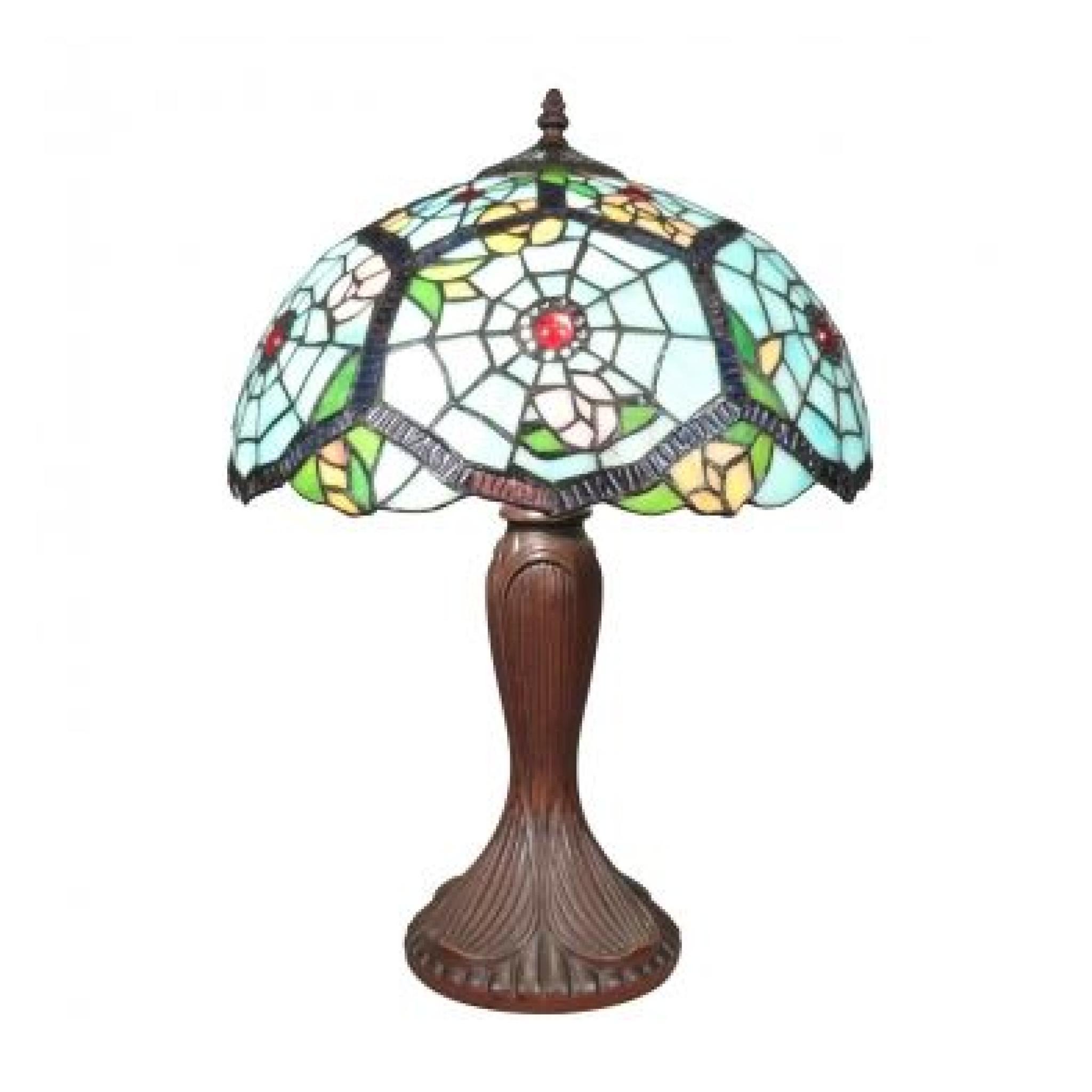 lampe tiffany achat vente lampe a poser pas cher couleur et. Black Bedroom Furniture Sets. Home Design Ideas