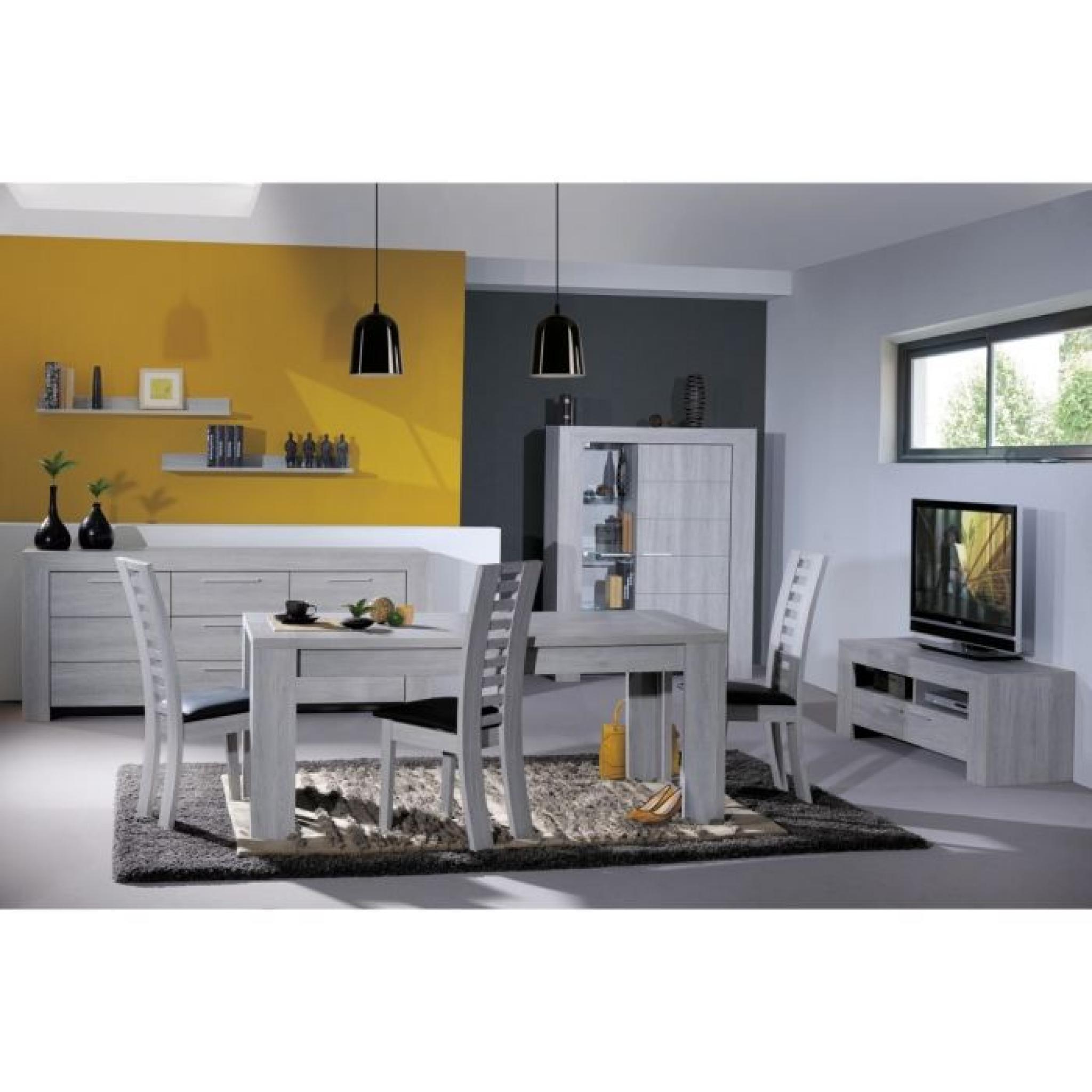 lathi buffet haut 2 portes gris clair pas cher - Buffet Haut Gris