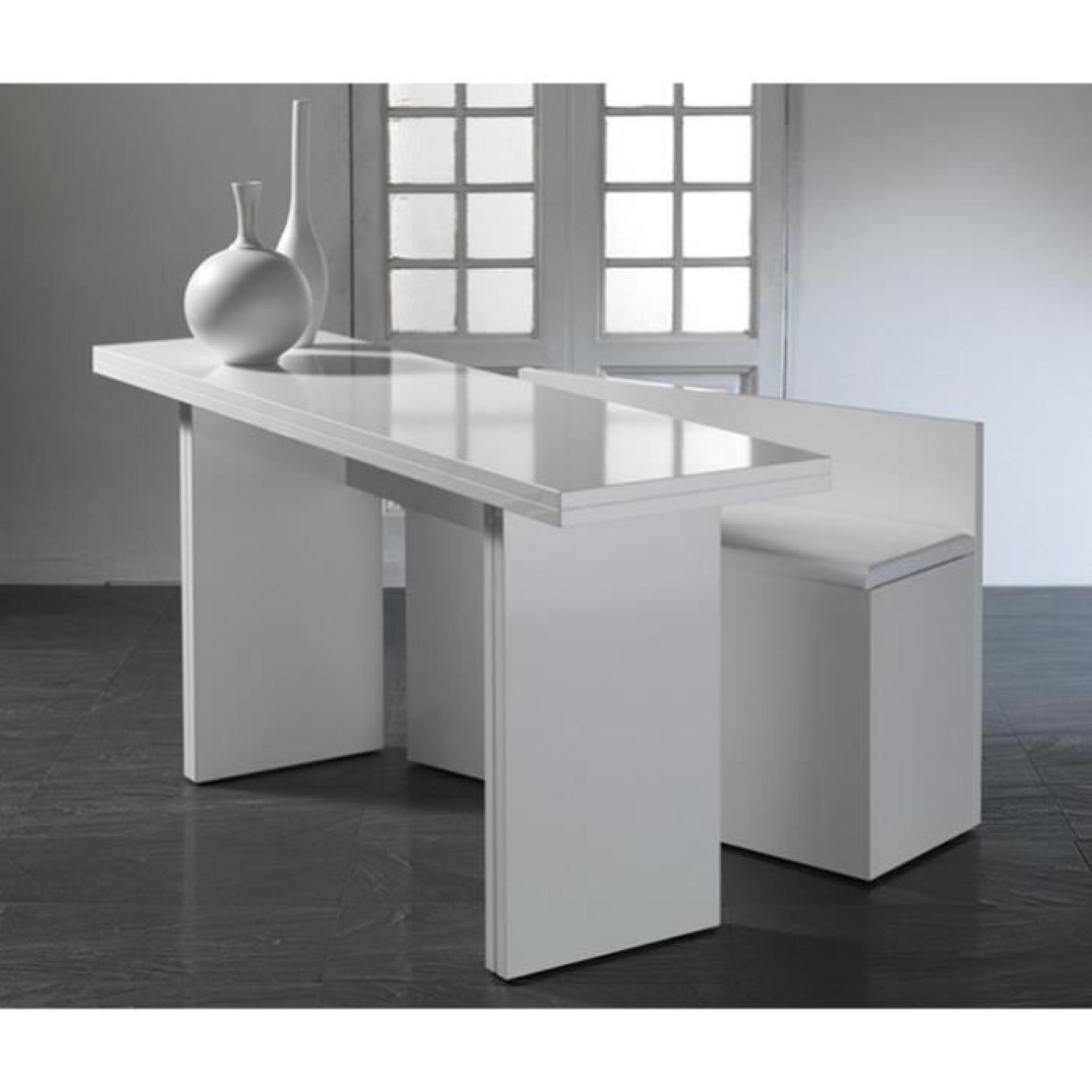 Lava Console Table à Rabats Blanche Avec Banc Inclus Achatvente