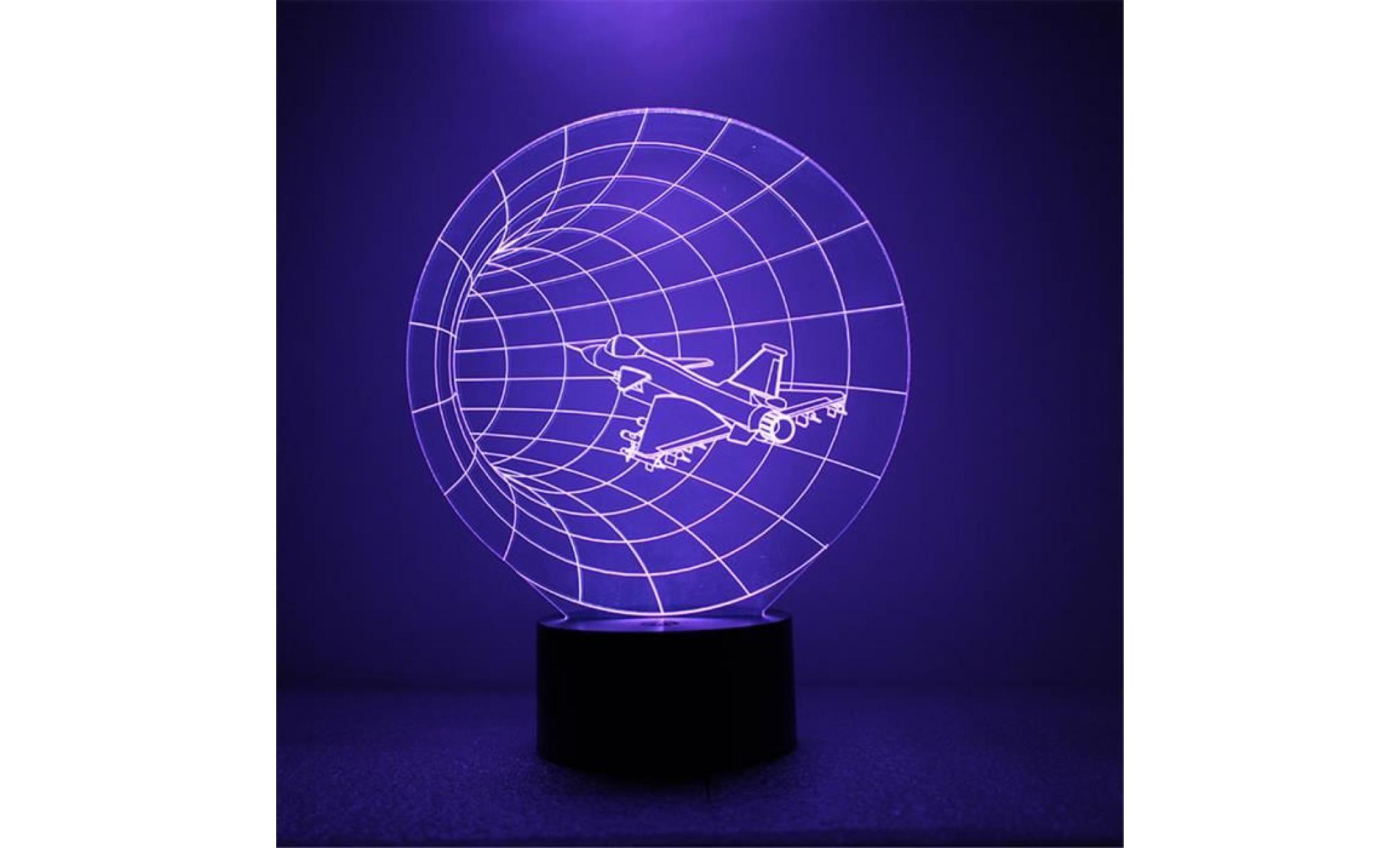Pour Illusion Led 3d Aircraft Lampes Couleurs Optique 7 Maison La Light Night led1634 TuwiZOPklX