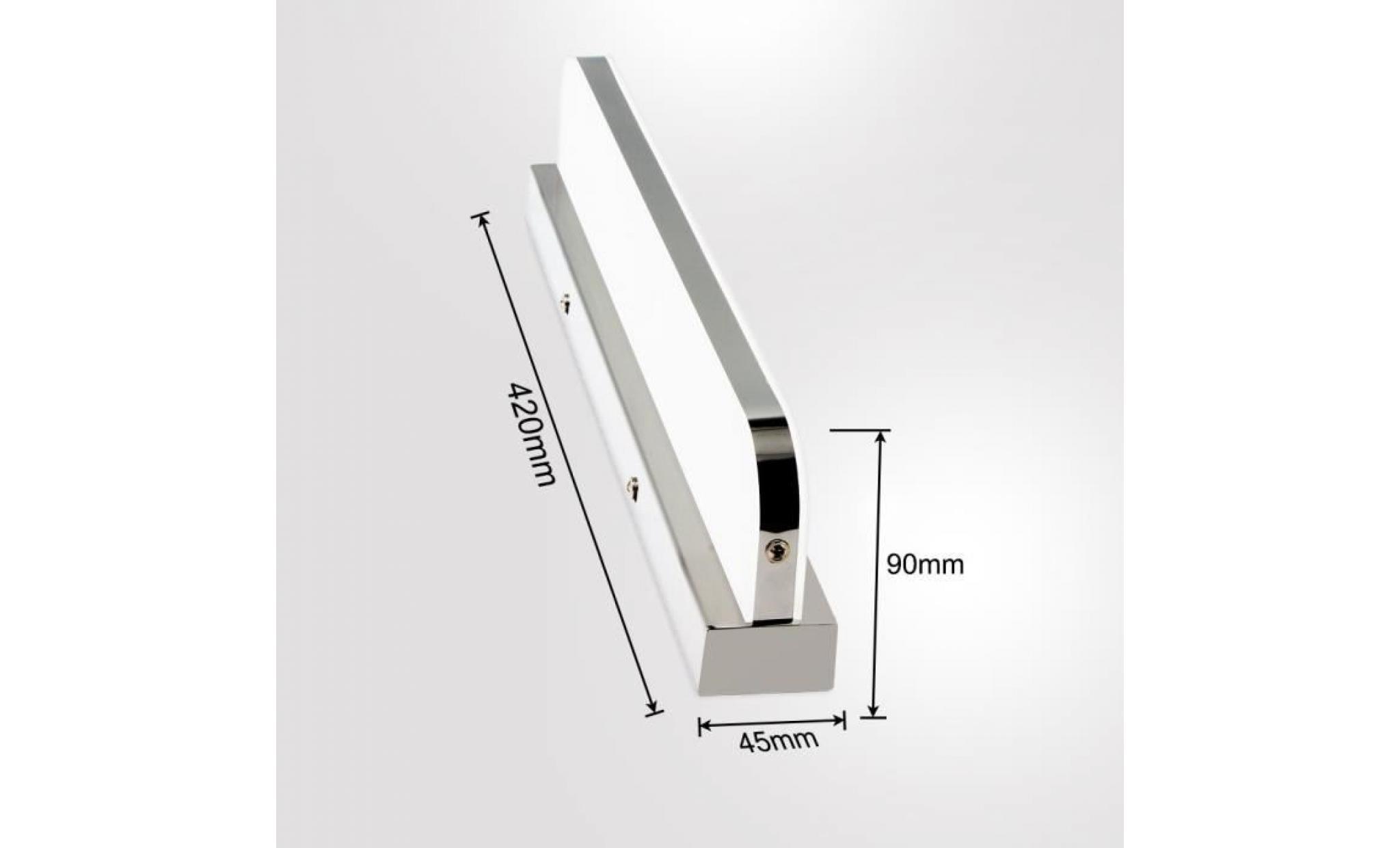 Miroir 7w Salle 42cm Lumière Blanche Maquillage Luminaire De Led Applique Bain Lampe Avant HY2WDE9I