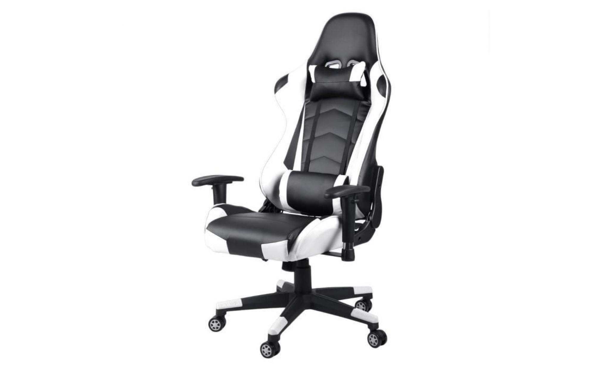Leshp Bureau Style Chaise Design De Gaming Contemporain Rouge Fauteuil Baquet 3Lq4ARc5j