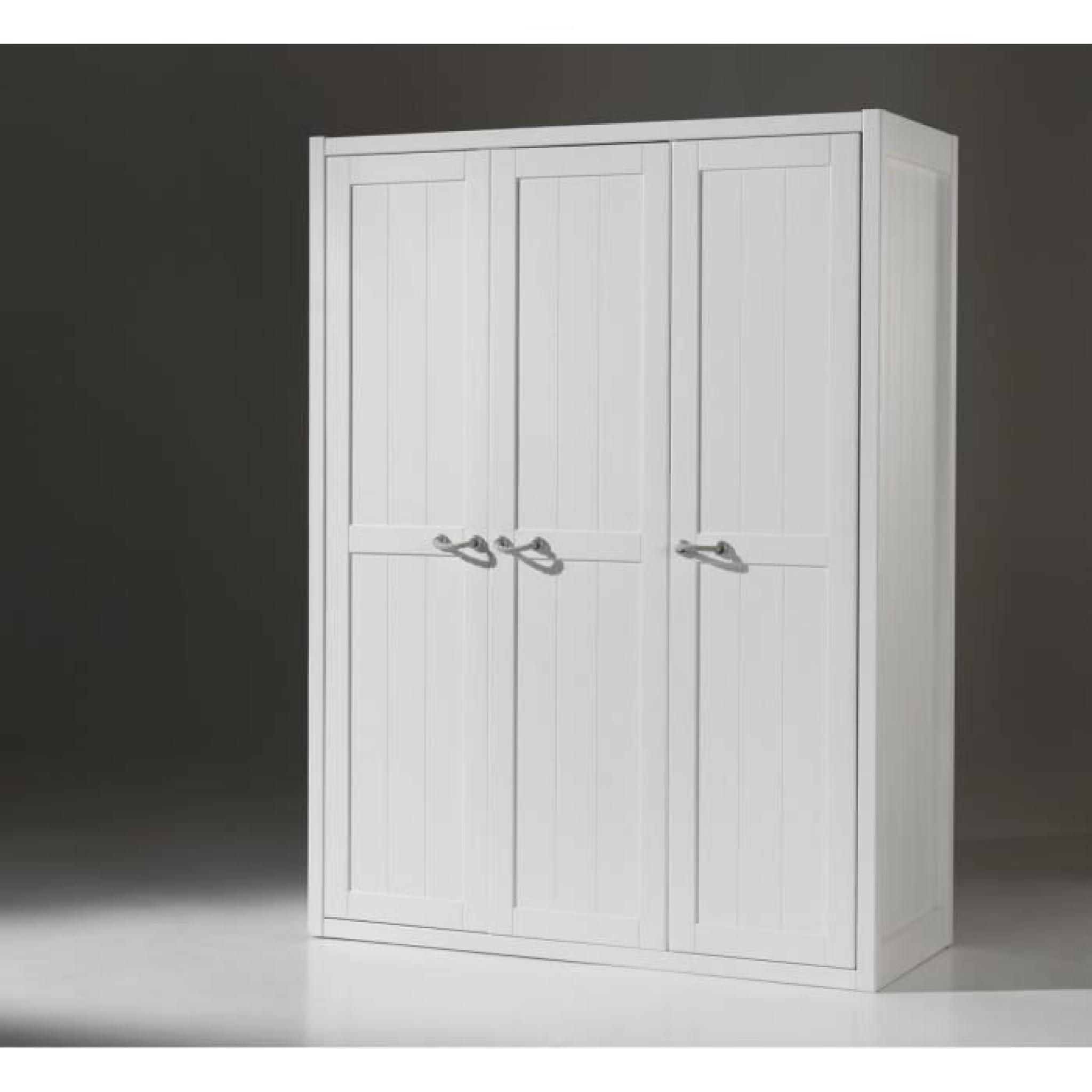 Lewis meuble de chambre 3 pi ces blanc achat vente for Achat meuble chambre