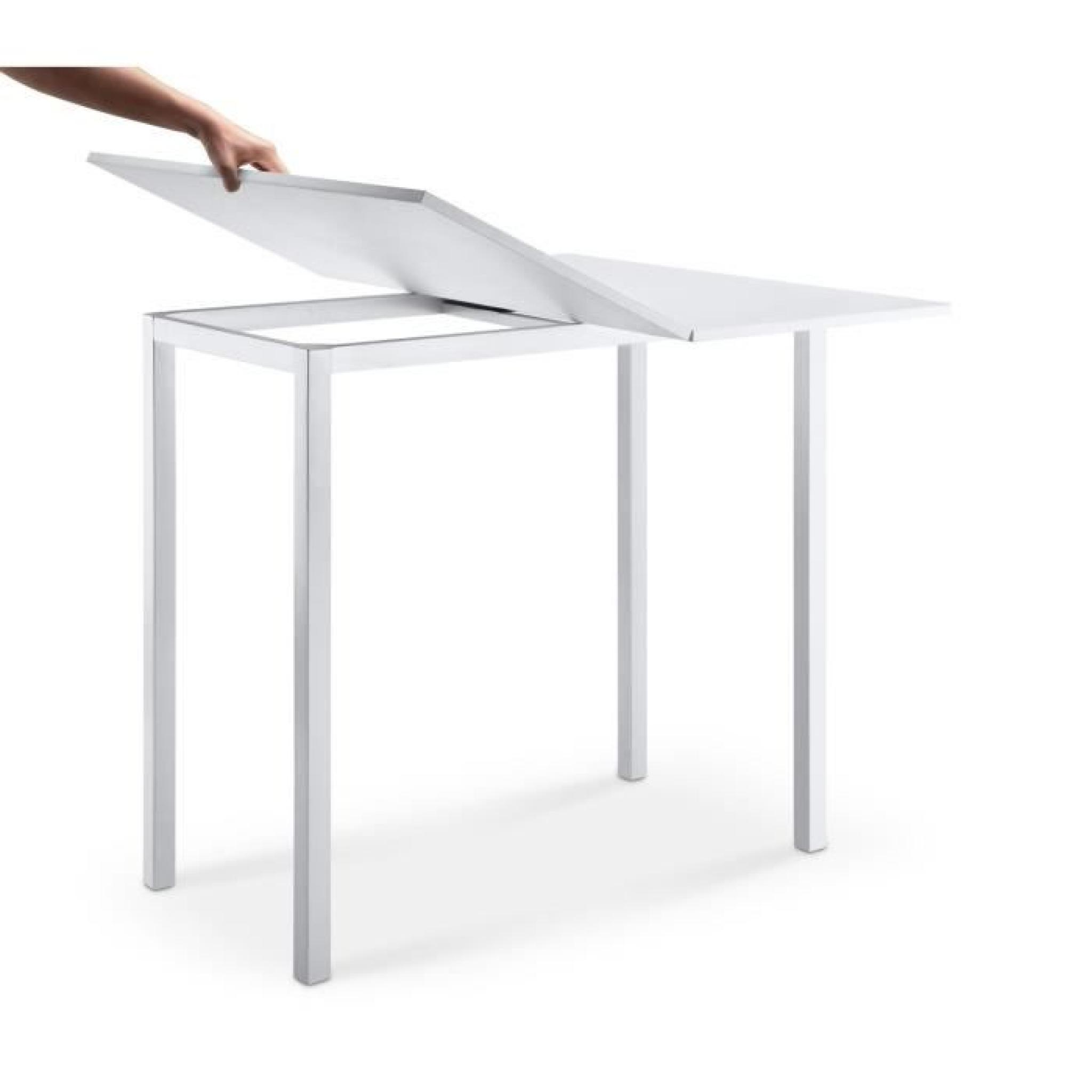 LIRA Table De Bar Extensible Blanc
