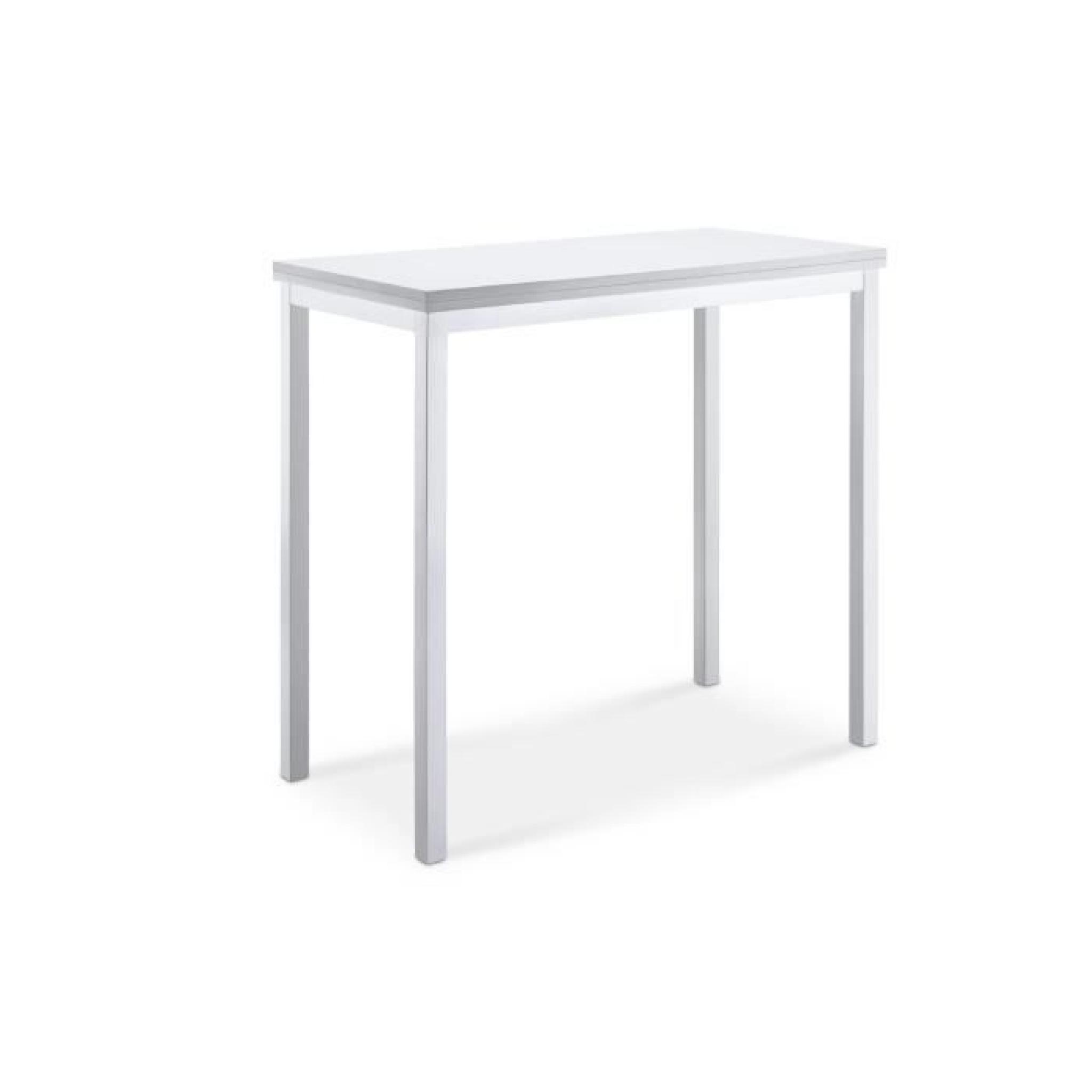 lira table de bar extensible blanc achat vente table. Black Bedroom Furniture Sets. Home Design Ideas