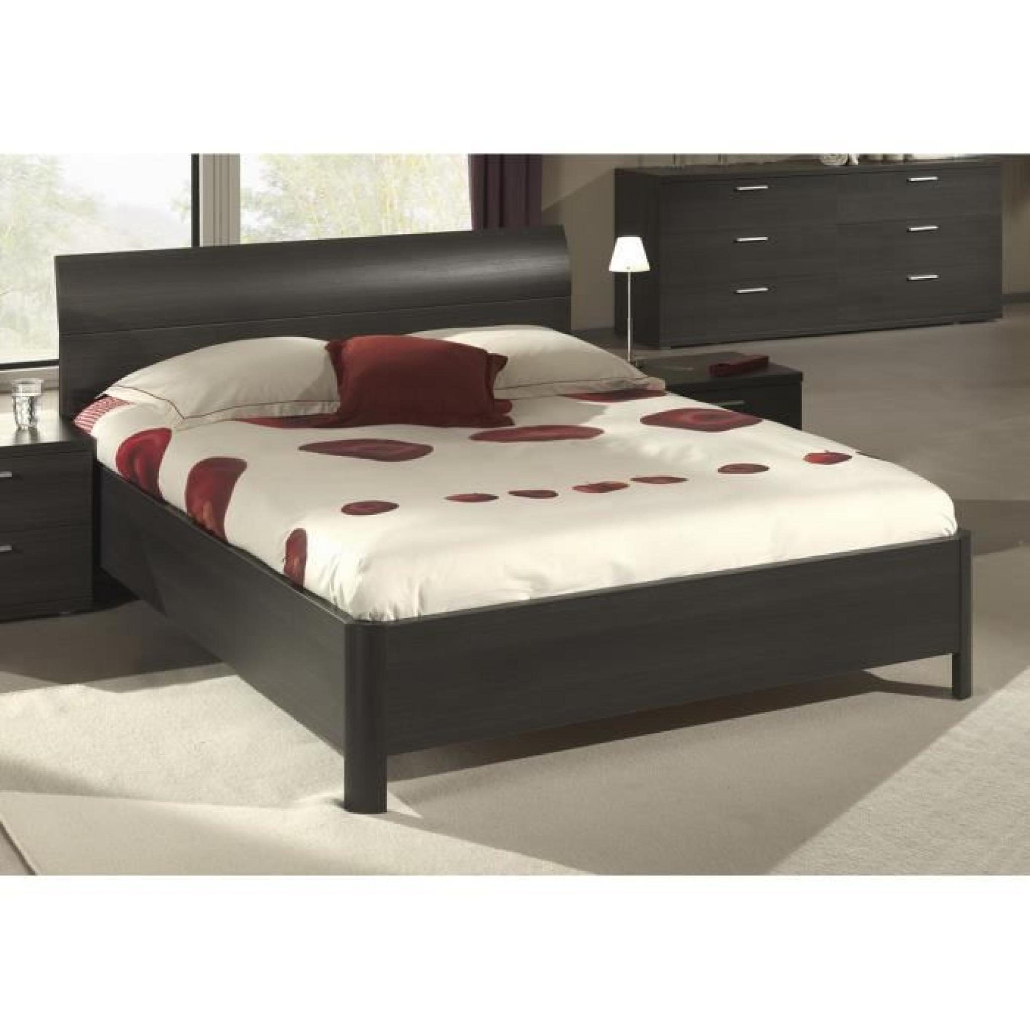 lit 140 x 200 cm avec tête de lit design  achatvente lit