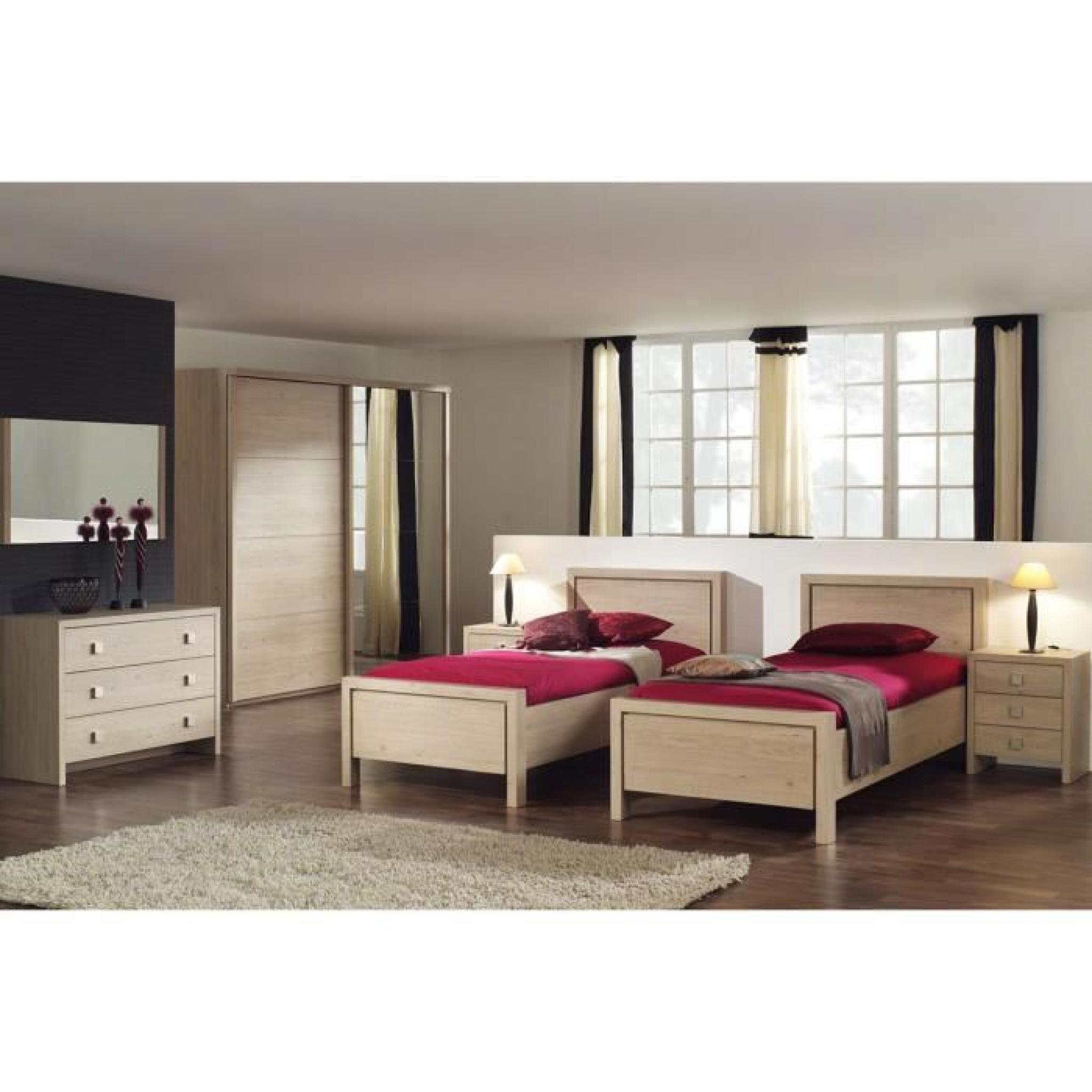 lit 90x200 coloris ch ne achat vente lit pas cher couleur et. Black Bedroom Furniture Sets. Home Design Ideas
