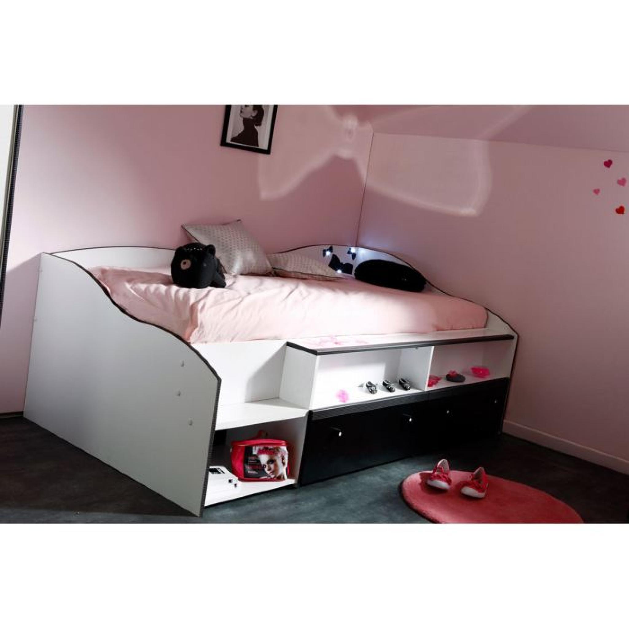 lit pas cher 90x190. Black Bedroom Furniture Sets. Home Design Ideas