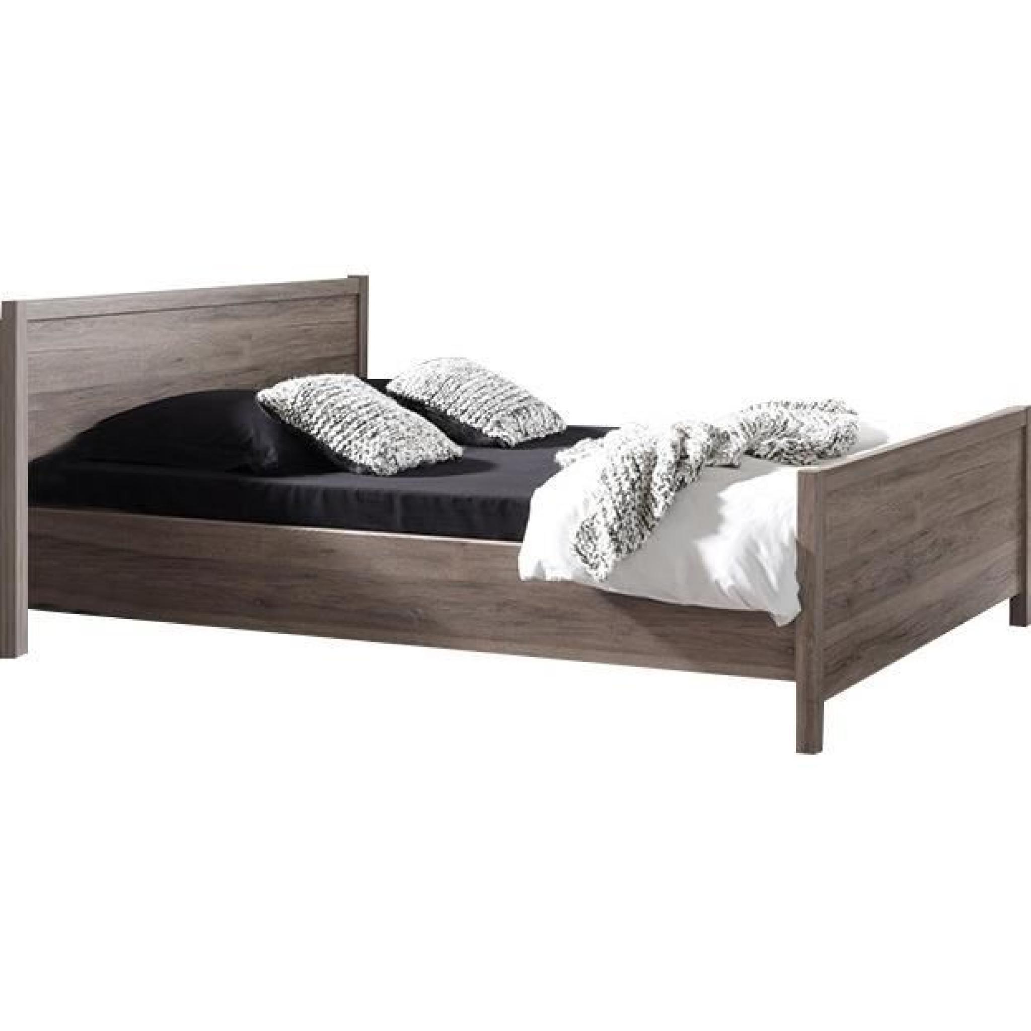lit adulte 140x200 en bois - achat/vente lit pas cher - couleur-et