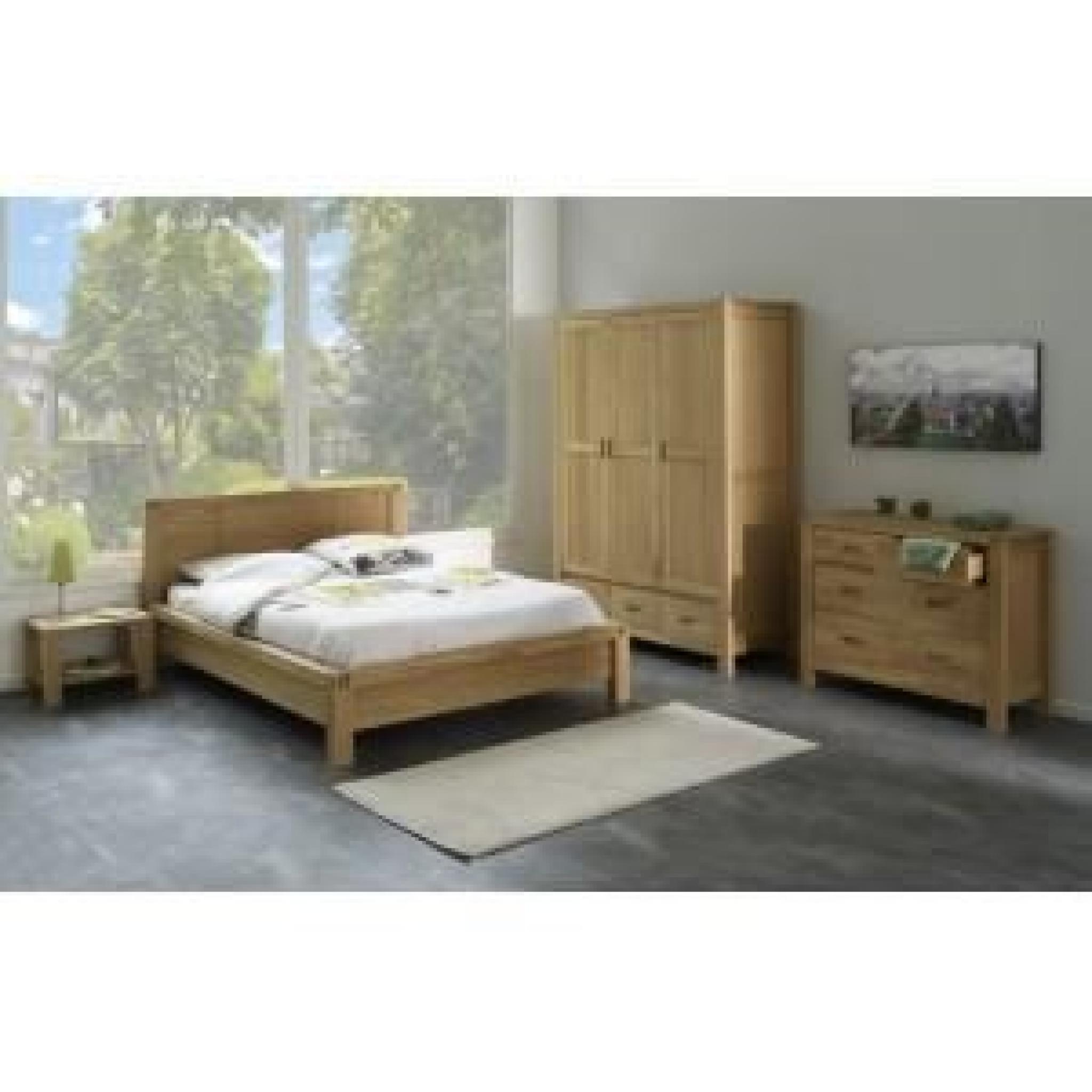 """lit adulte 160x200cm """"forest"""" beige - paris prix - achat/vente lit"""