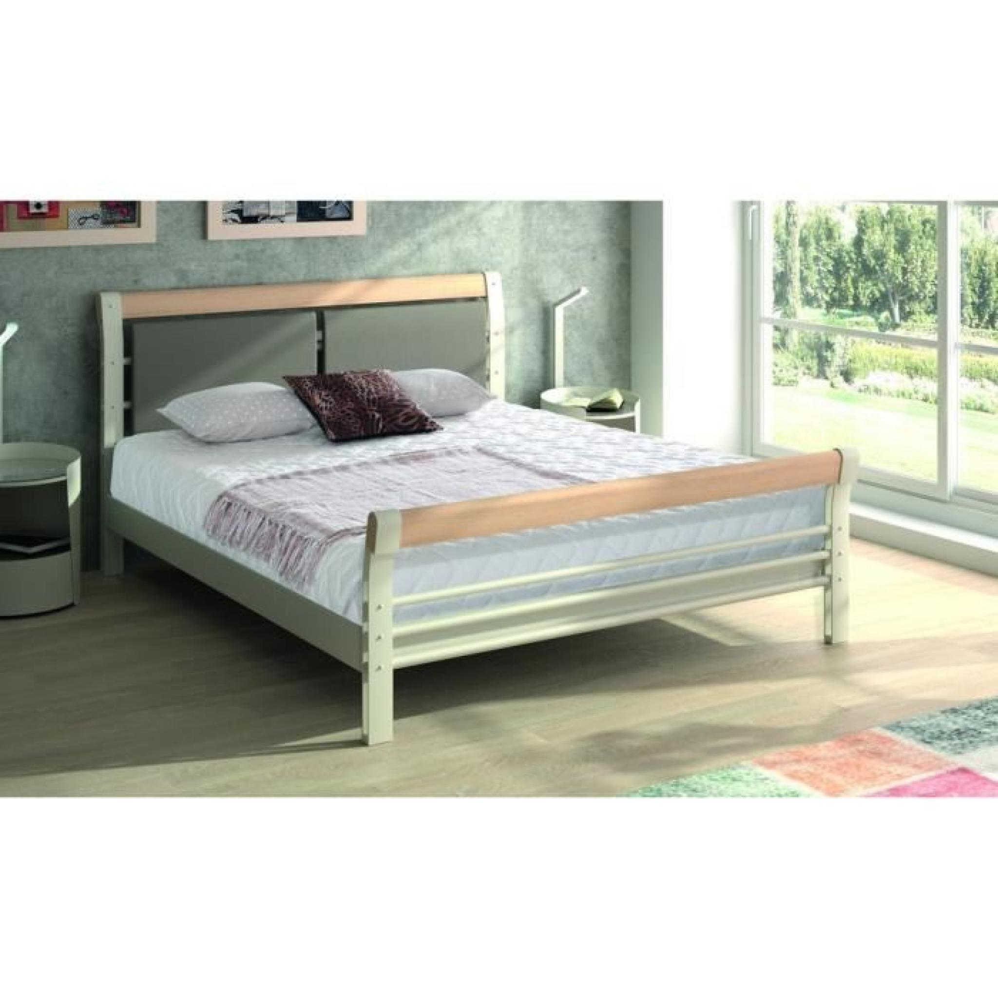 lit adulte m tal 160x200 bilbao ferplay blanc achat. Black Bedroom Furniture Sets. Home Design Ideas