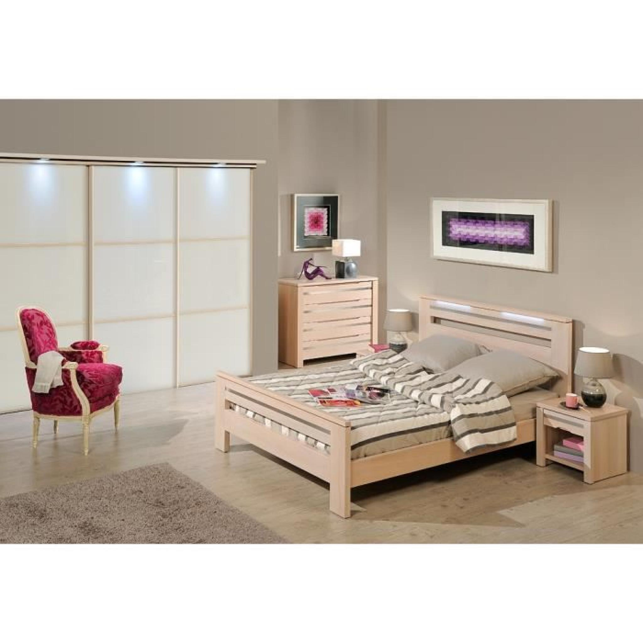 lit contemporain opale orme orme weng 160 x 200 achat vente lit pas cher couleur et. Black Bedroom Furniture Sets. Home Design Ideas