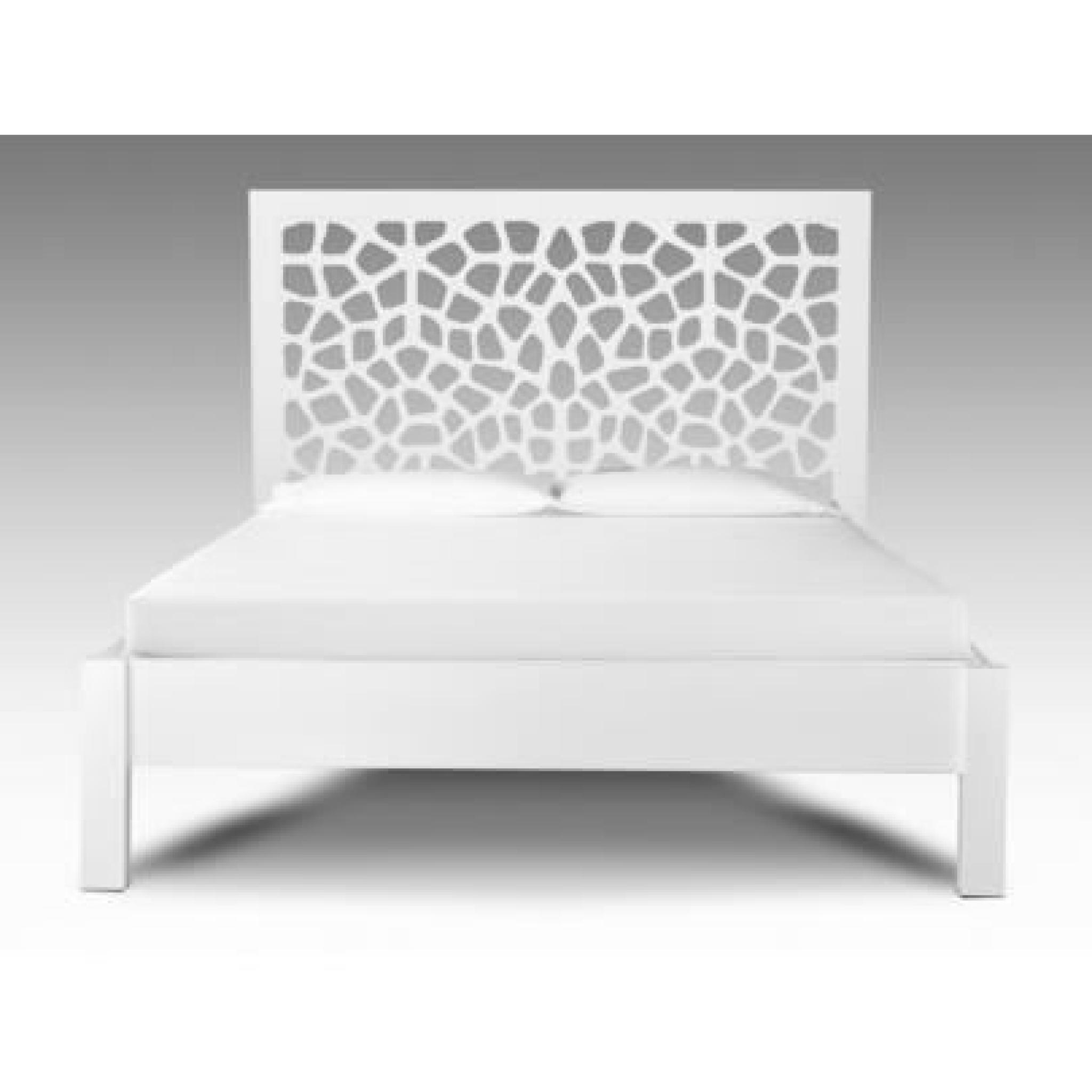 lit dolly 160x200cm bois mdf laqu blanc achat. Black Bedroom Furniture Sets. Home Design Ideas