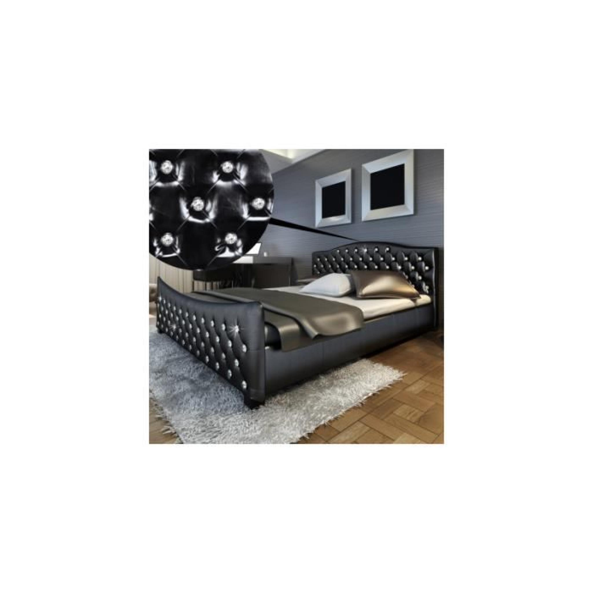 lit en simili cuir avec achat vente lit pas cher couleur et. Black Bedroom Furniture Sets. Home Design Ideas