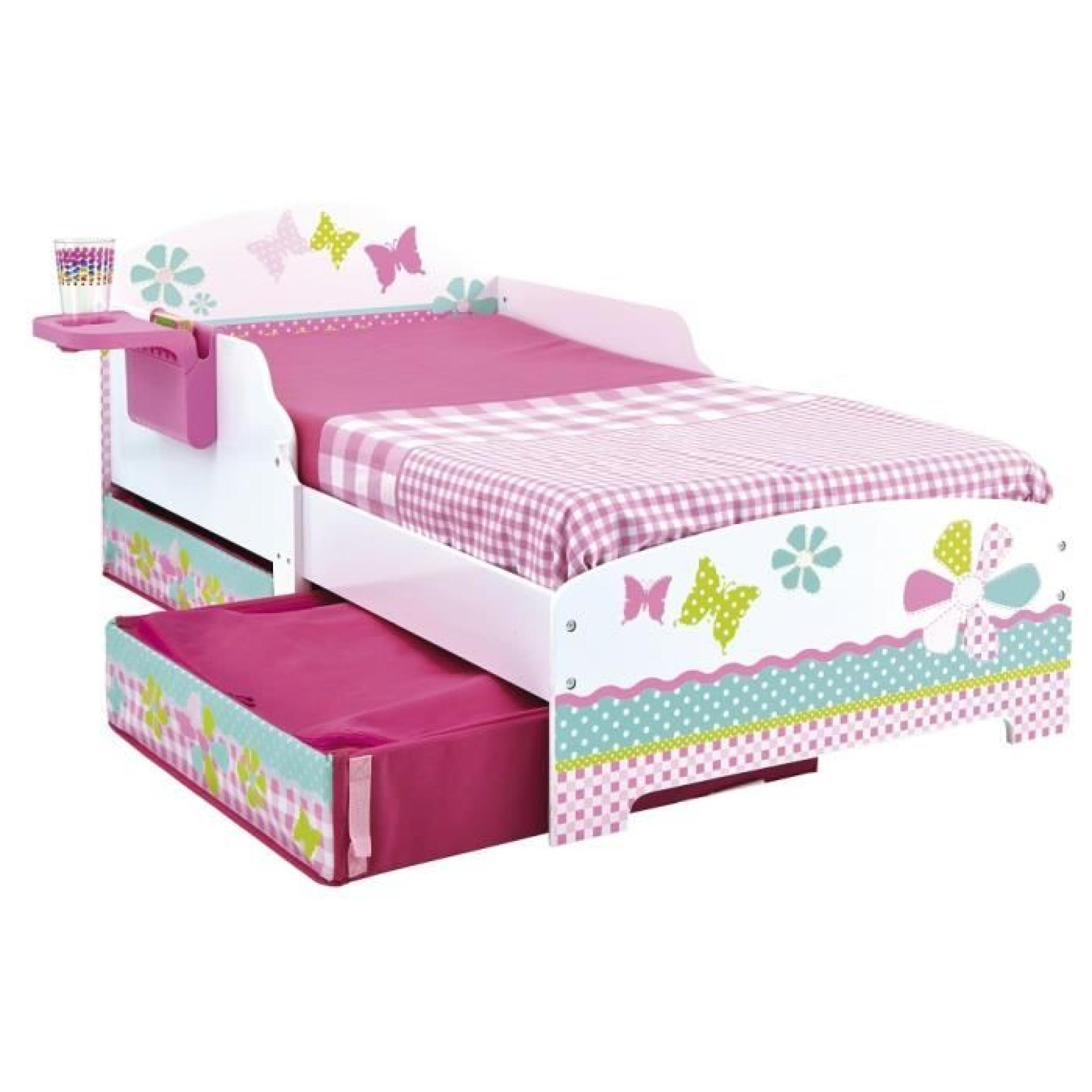 lit enfant fille 70x140 patchwork tiroirs achat vente. Black Bedroom Furniture Sets. Home Design Ideas