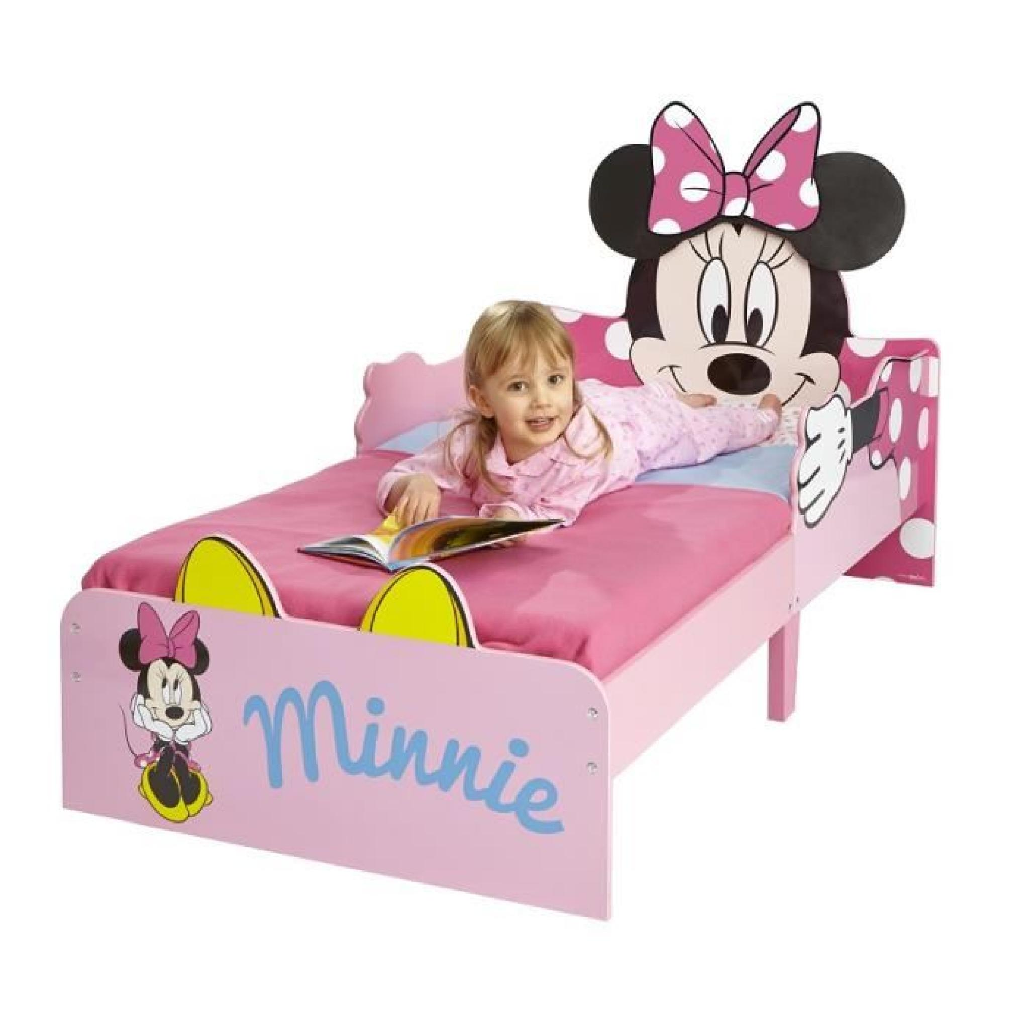 lit enfant minnie 70x140 achat vente lit pas cher couleur et. Black Bedroom Furniture Sets. Home Design Ideas