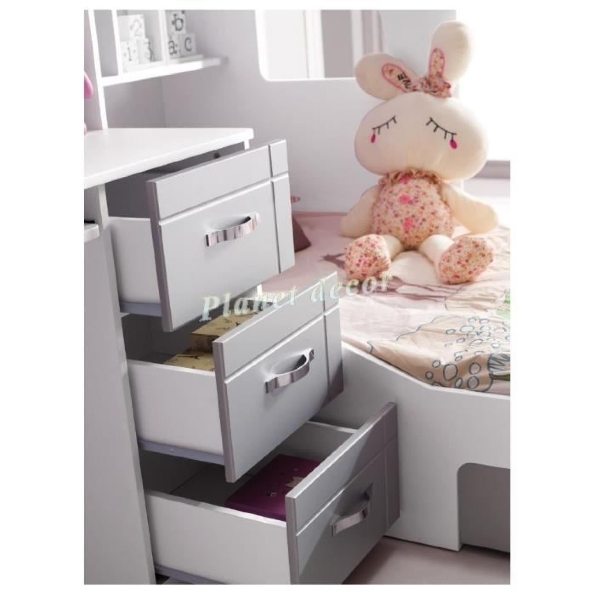 lit enfant multifonction stella achat vente lit enfant pas cher couleur et. Black Bedroom Furniture Sets. Home Design Ideas