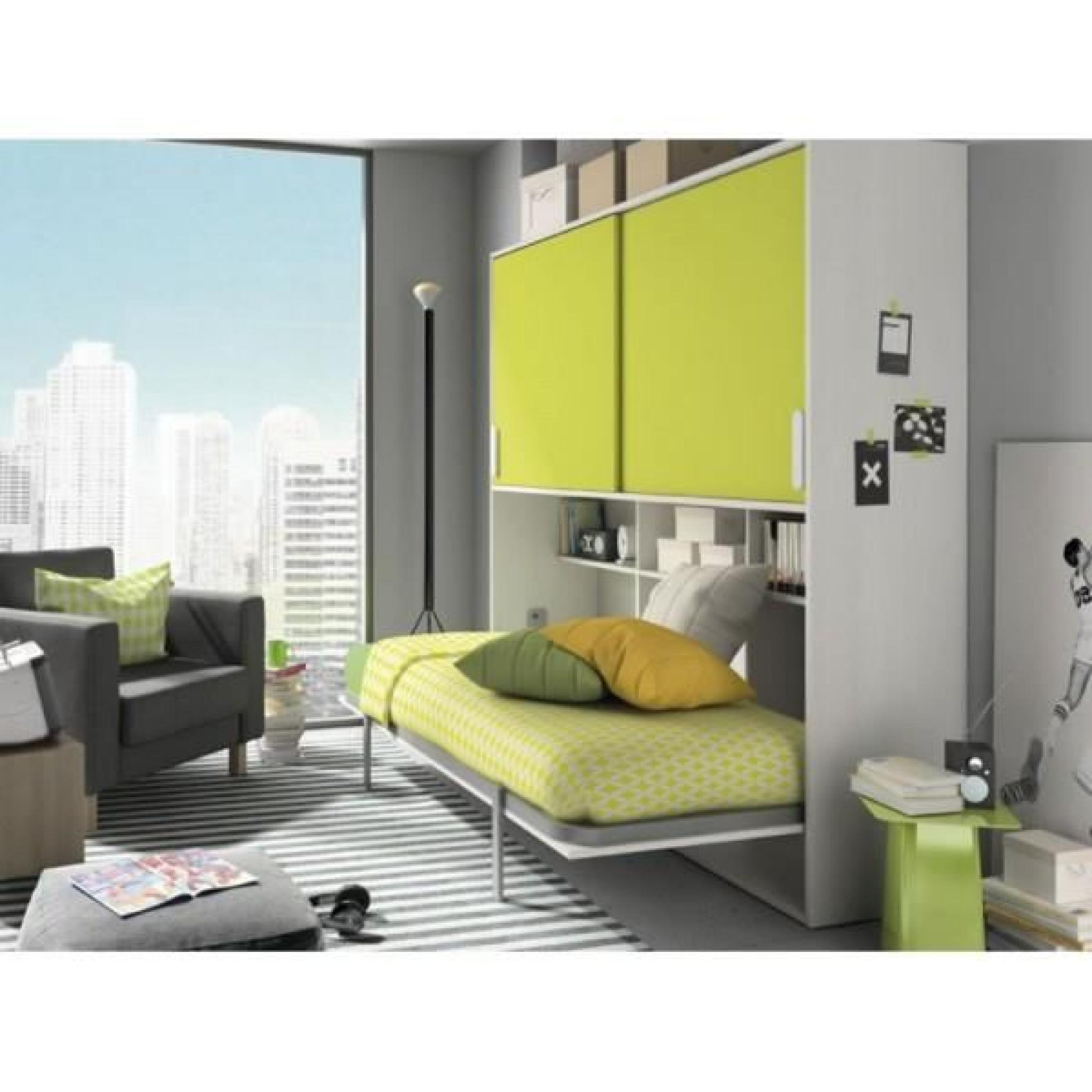 lit escamotable deco 307 achat vente lit escamotable pas cher couleur et. Black Bedroom Furniture Sets. Home Design Ideas