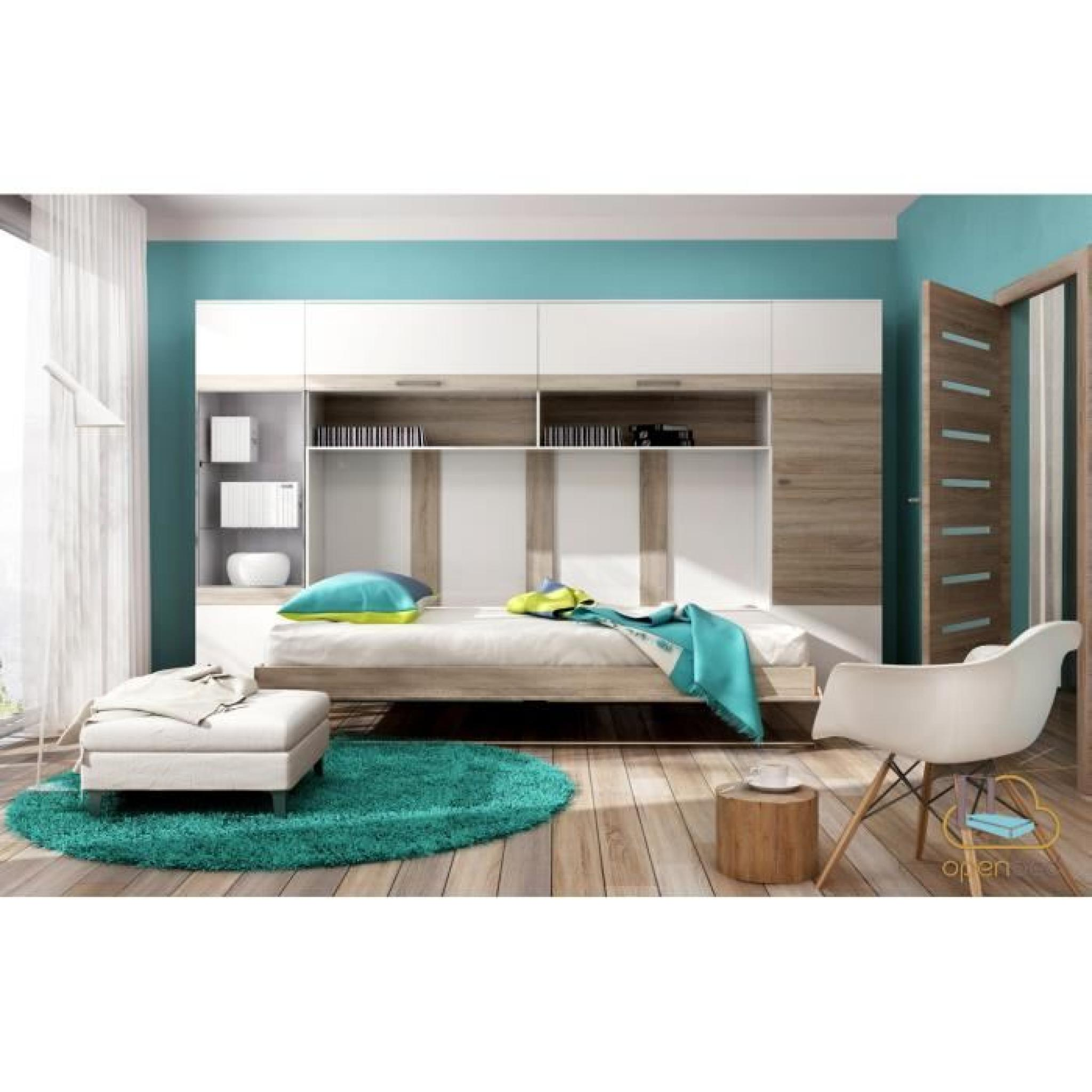 lit escamotable horizontal faro bi color achat vente lit escamotable pas cher couleur et. Black Bedroom Furniture Sets. Home Design Ideas