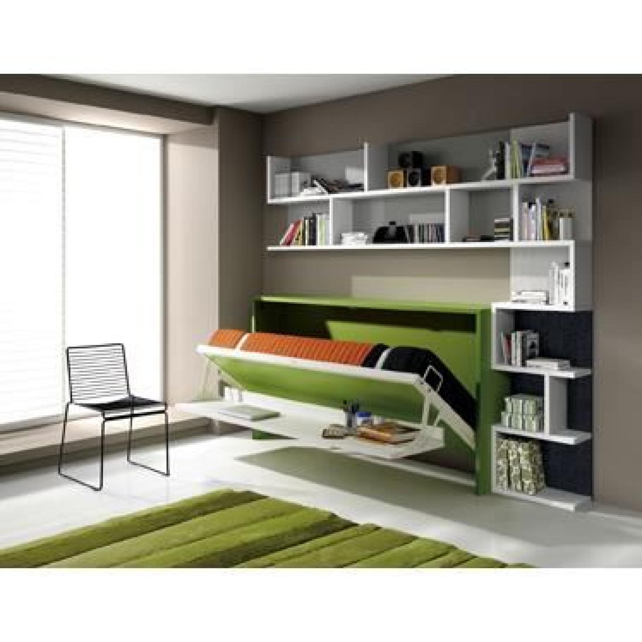 lit escamotable lat ral fleet 90x190cm avec bureau achat vente lit escamotable pas cher. Black Bedroom Furniture Sets. Home Design Ideas